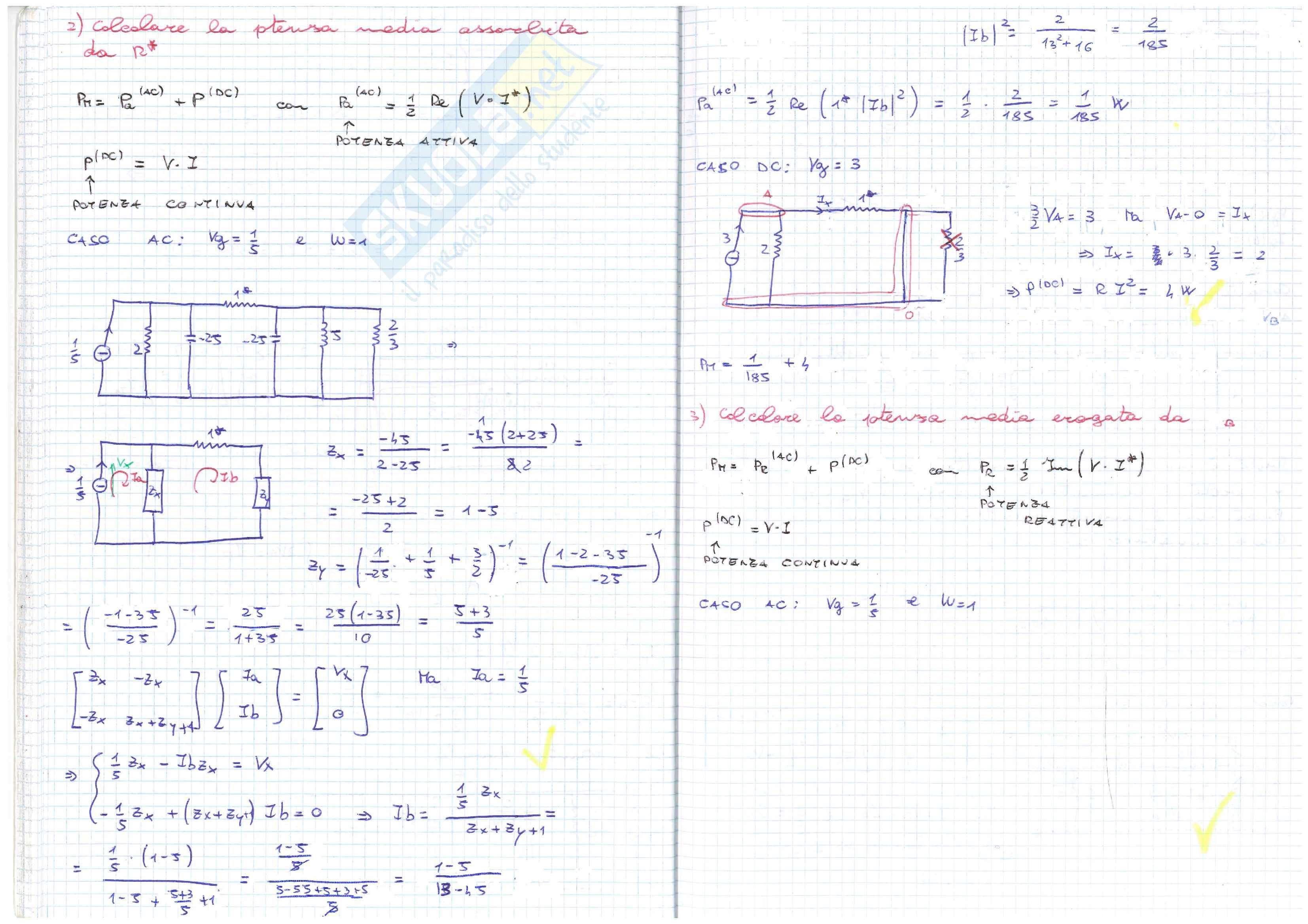 Elettrotecnica es. 2 Pag. 26