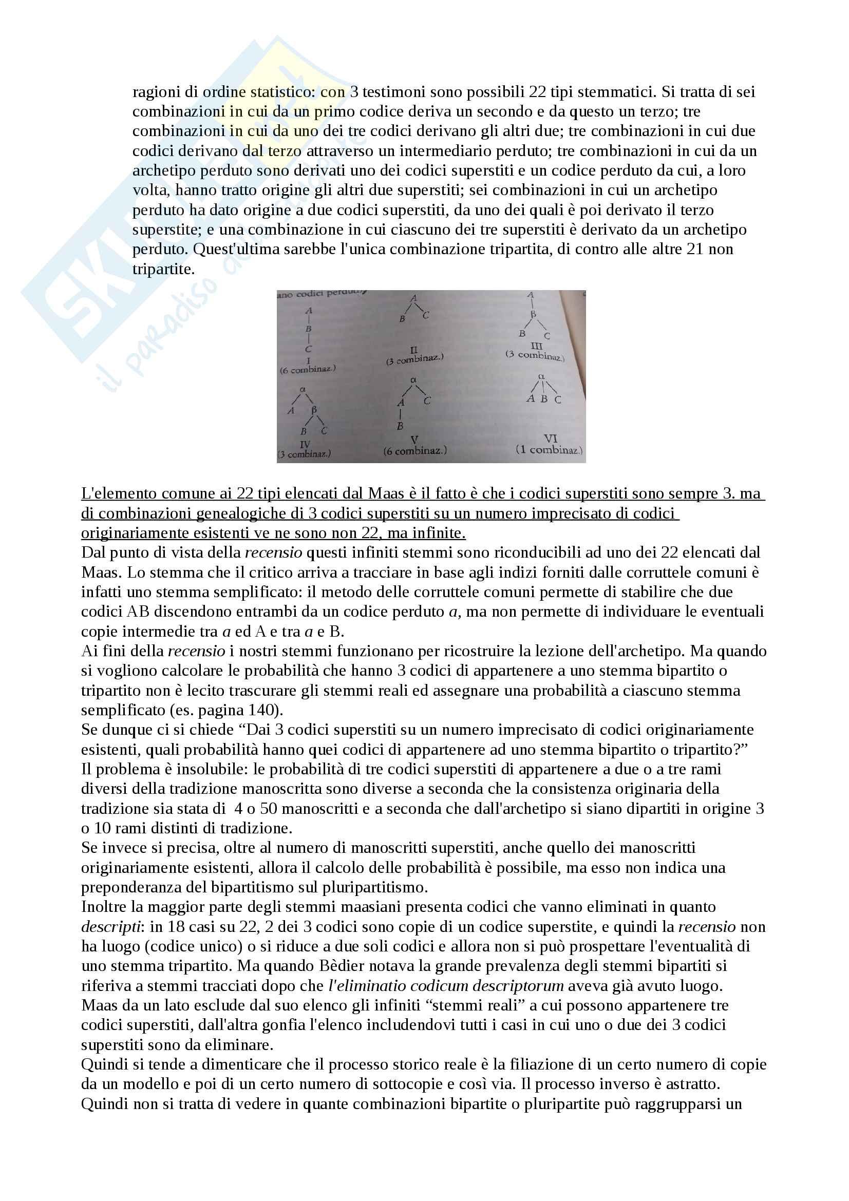 Riassunto esame Filologia Italiana, docente Lorenzi Cristiano, libro consigliato Fondamenti di Critica Testuale, Stussi Pag. 11