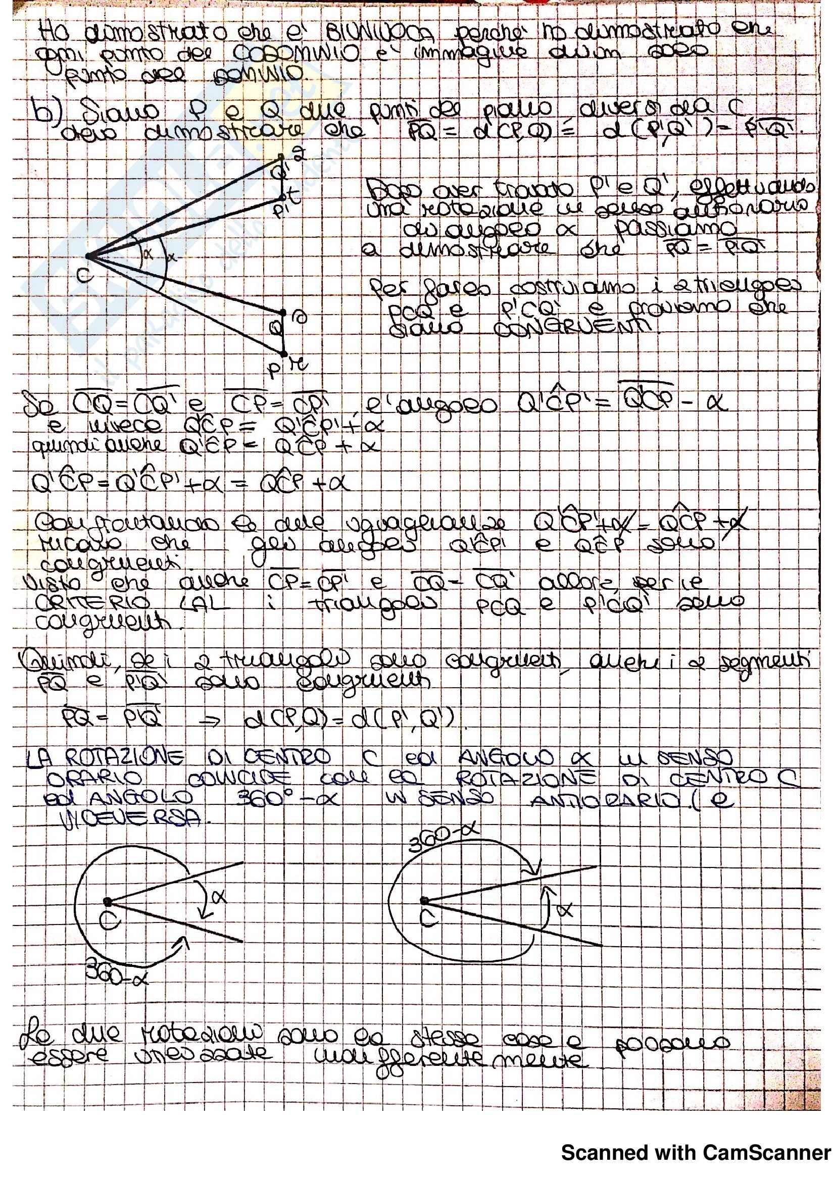 Appunti ed Esercizi Matematica per la formazione di base (II): Trasformazioni geometriche (isometrie), Simmetrie delle figure piane Pag. 6
