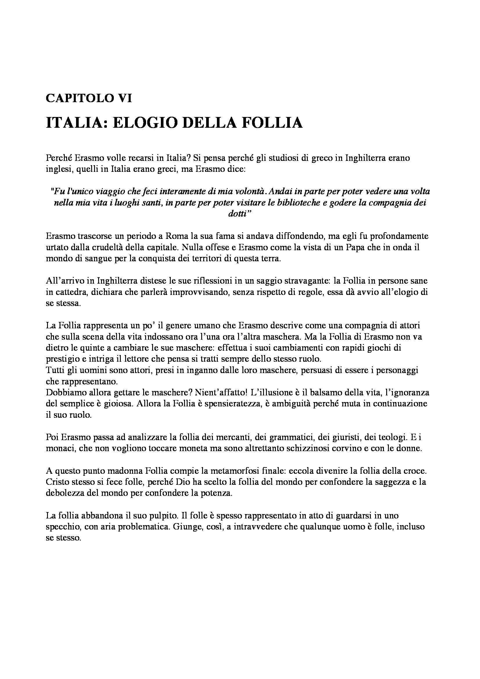 Riassunto esame Storia Moderna: Erasmo della cristianità, prof. Dall'Olio Pag. 6