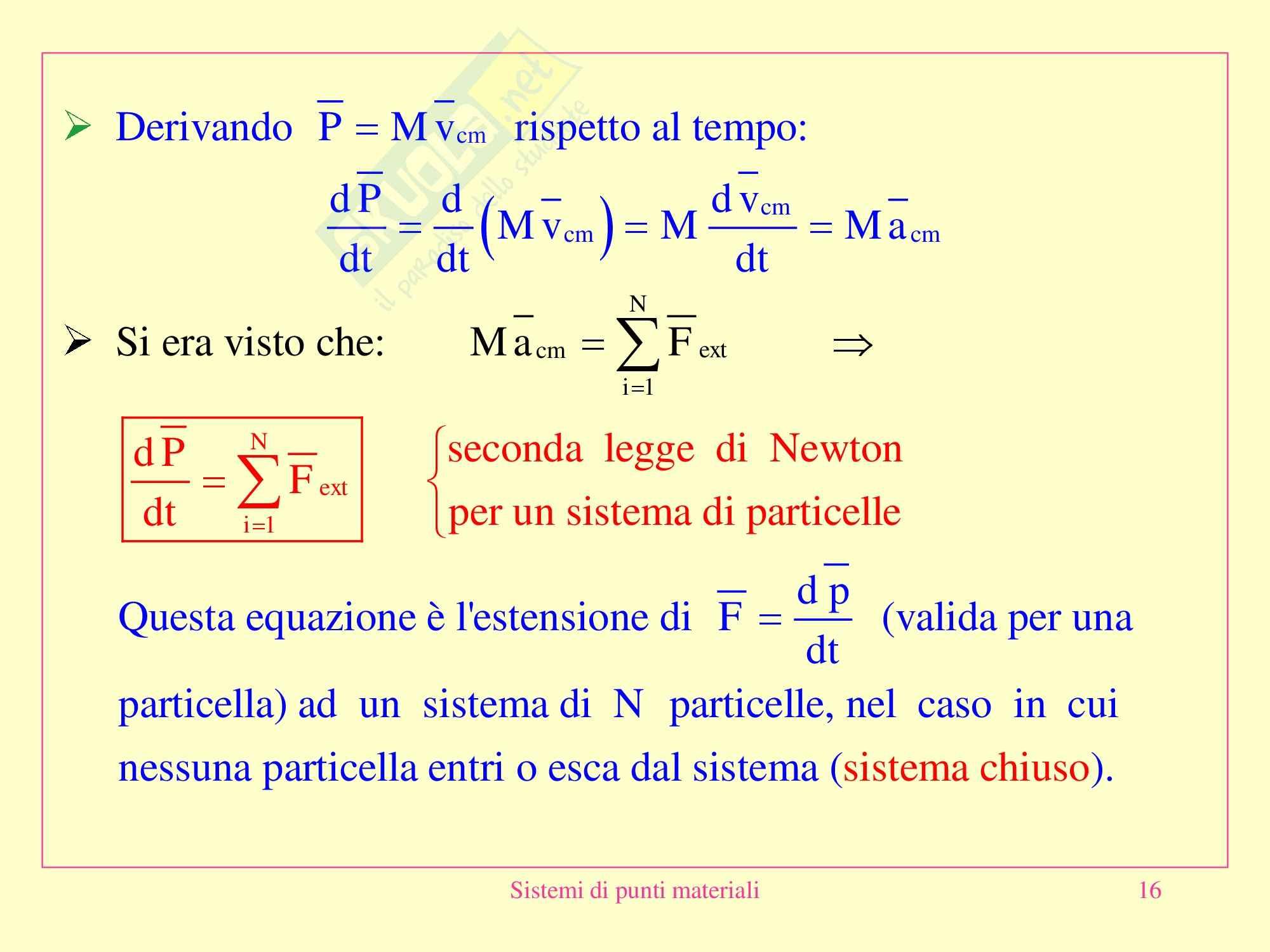 Fisica medica - sistemi di punti materiali Pag. 16