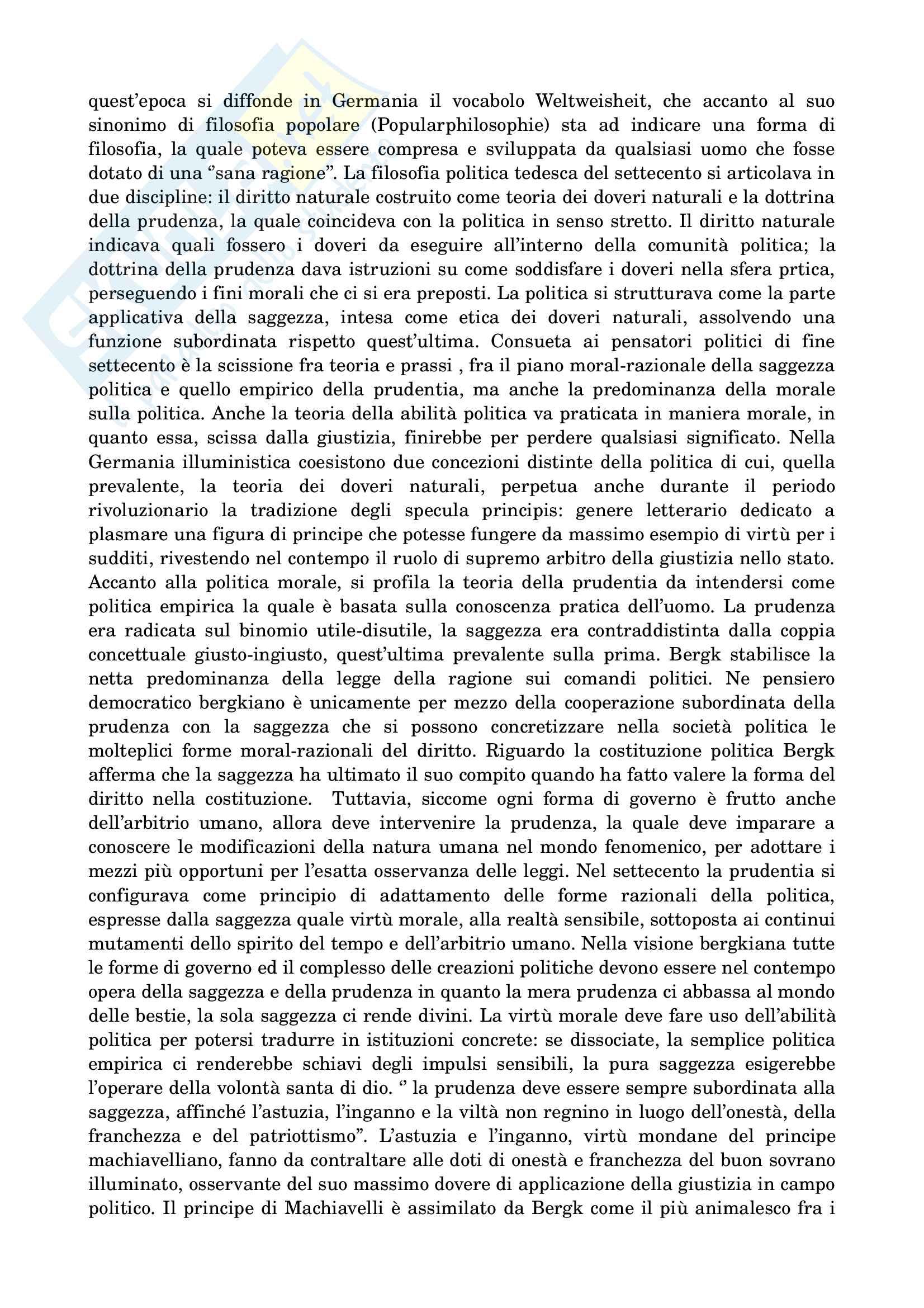 Riassunto esame di filosofia politica prof.ssa Vanda Fiorillo, libro consigliato ''Autolimitazione razionale e desiderio. Il dovere nei progetti di riorganizzazione politica dell'illuminismo tedesco'' Pag. 16