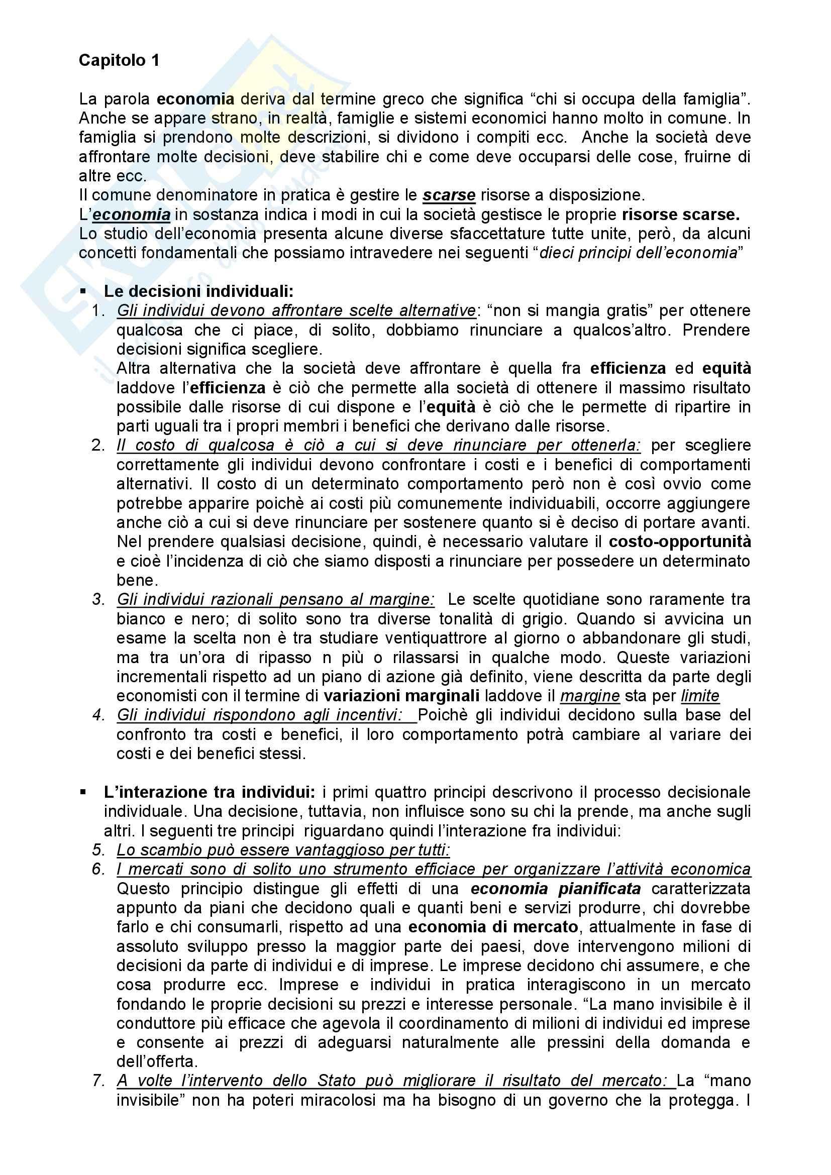 appunto S. Rossi Economia Politica