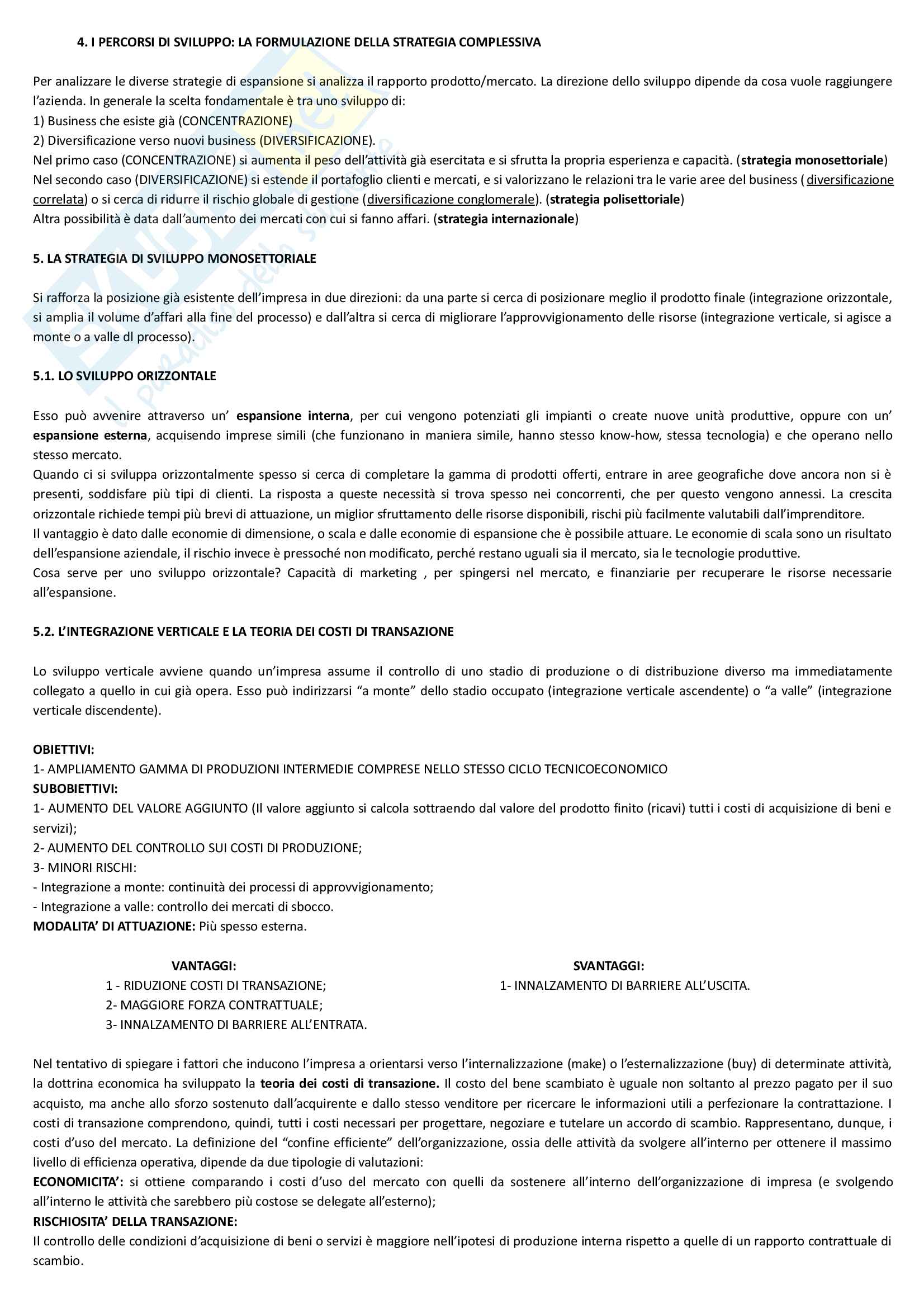 """Riassunto esame economia e gestione delle imprese, docente M. Colurcio, libro consigliato """"La gestione dell'impresa"""", Sciarelli Pag. 16"""