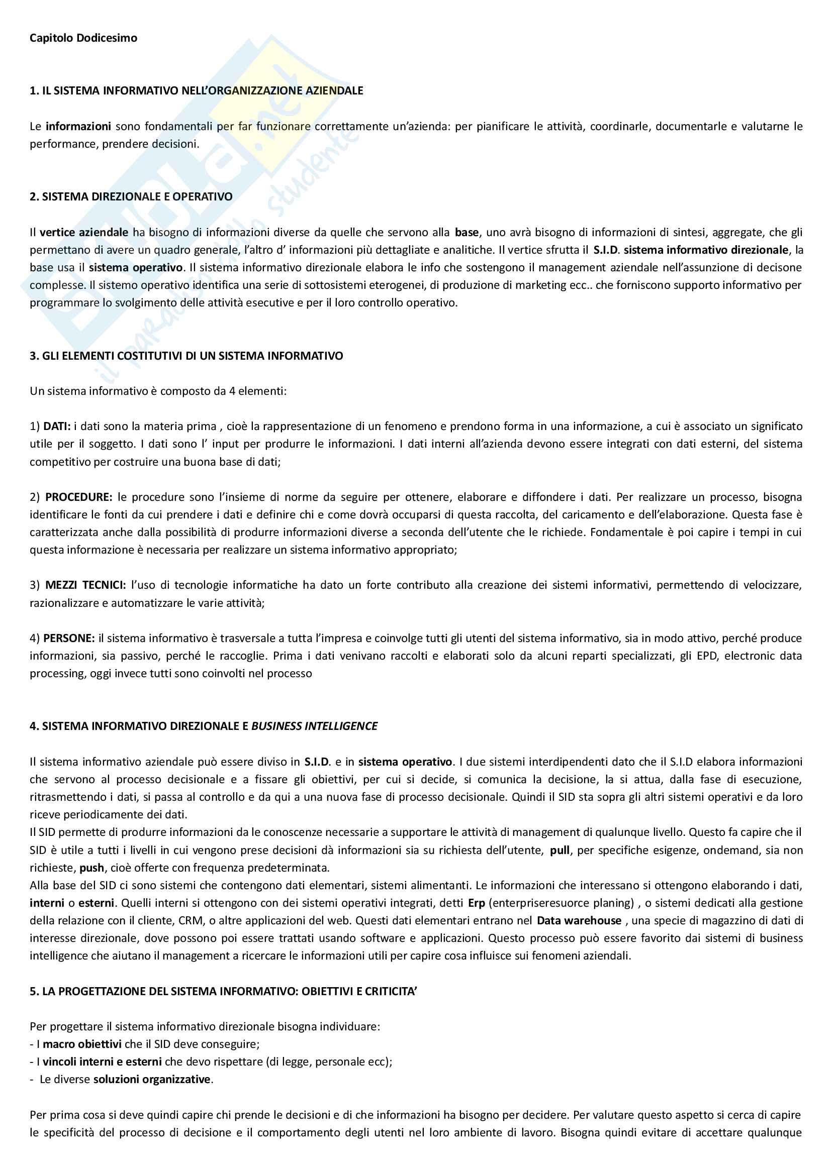 """Riassunto esame economia e gestione delle imprese, docente M. Colurcio, libro consigliato """"La gestione dell'impresa"""", Sciarelli Pag. 26"""