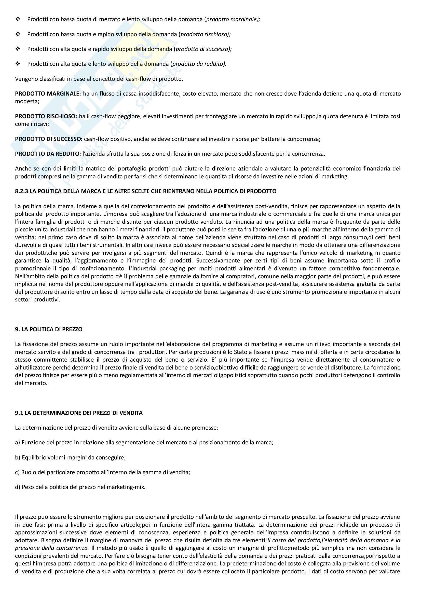 """Riassunto esame economia e gestione delle imprese, docente M. Colurcio, libro consigliato """"La gestione dell'impresa"""", Sciarelli Pag. 31"""