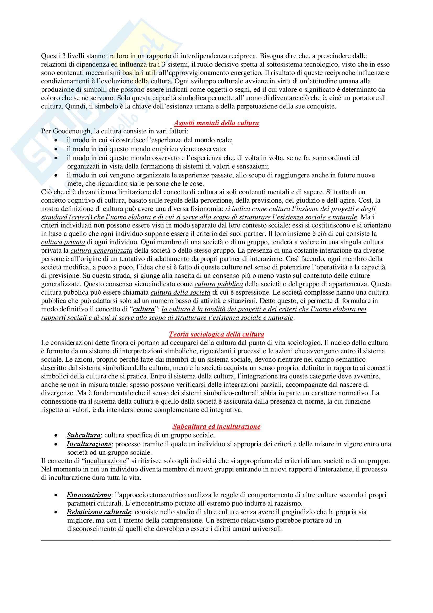 Riassunto esame Sociologia Generale, prof. Di Gennaro, libro consigliato Introduzione alla Sociologia, Reimann Pag. 2