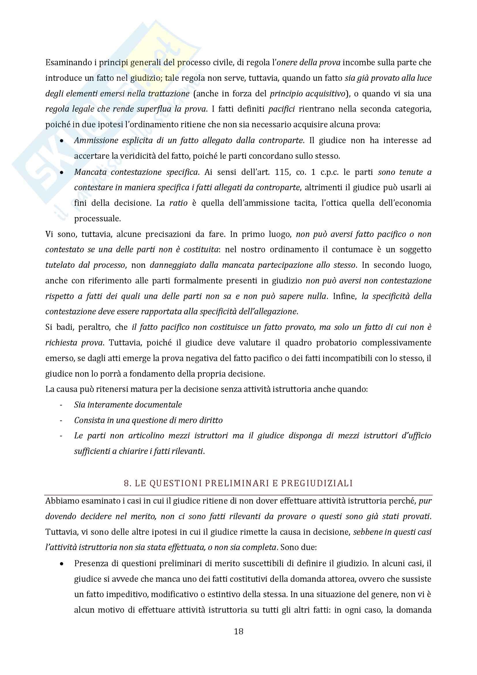 Riassunto esame Diritto Processuale Civile, Il Processo di Cognizione, prof. Vaccarella Pag. 16