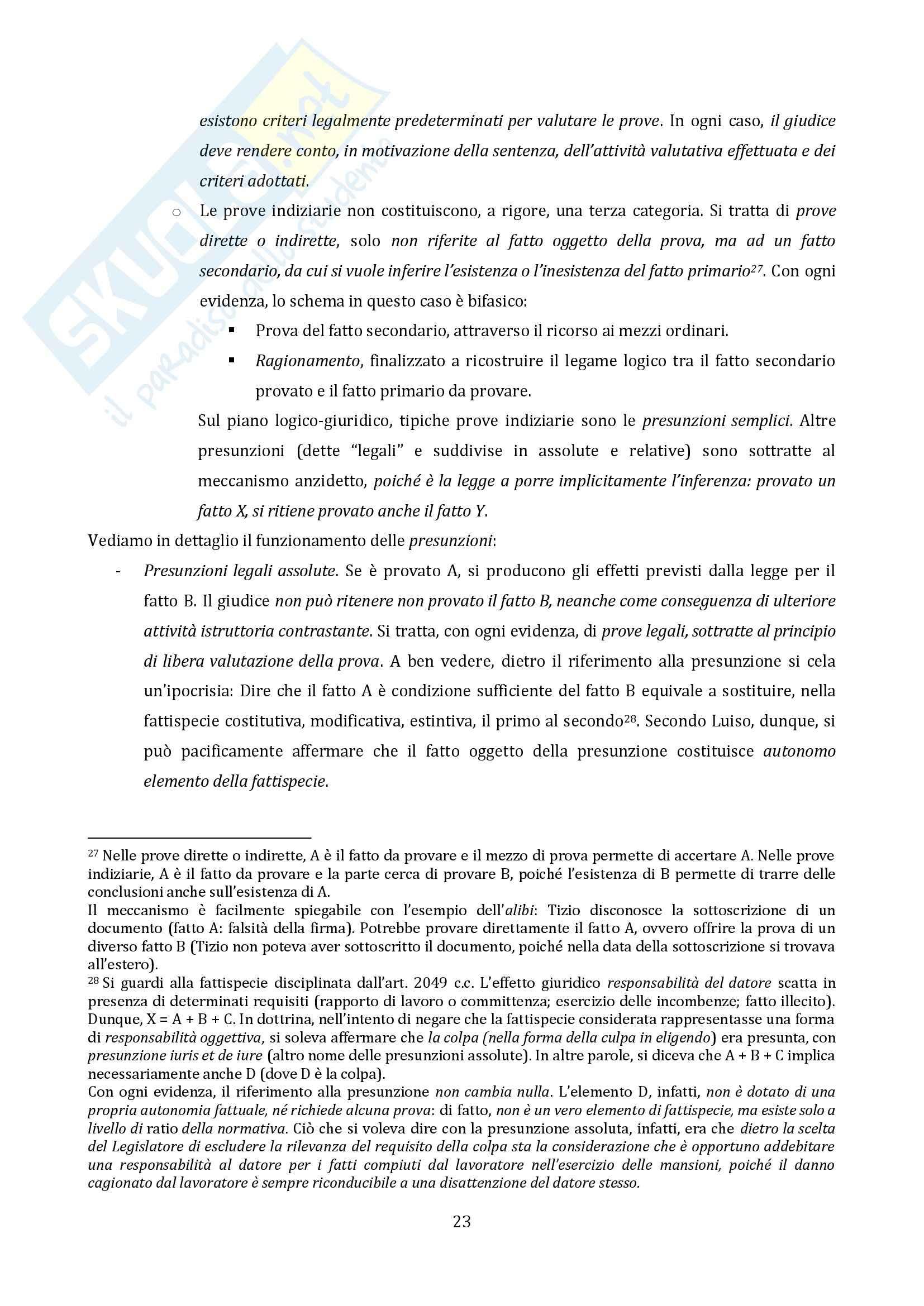 Riassunto esame Diritto Processuale Civile, Il Processo di Cognizione, prof. Vaccarella Pag. 21