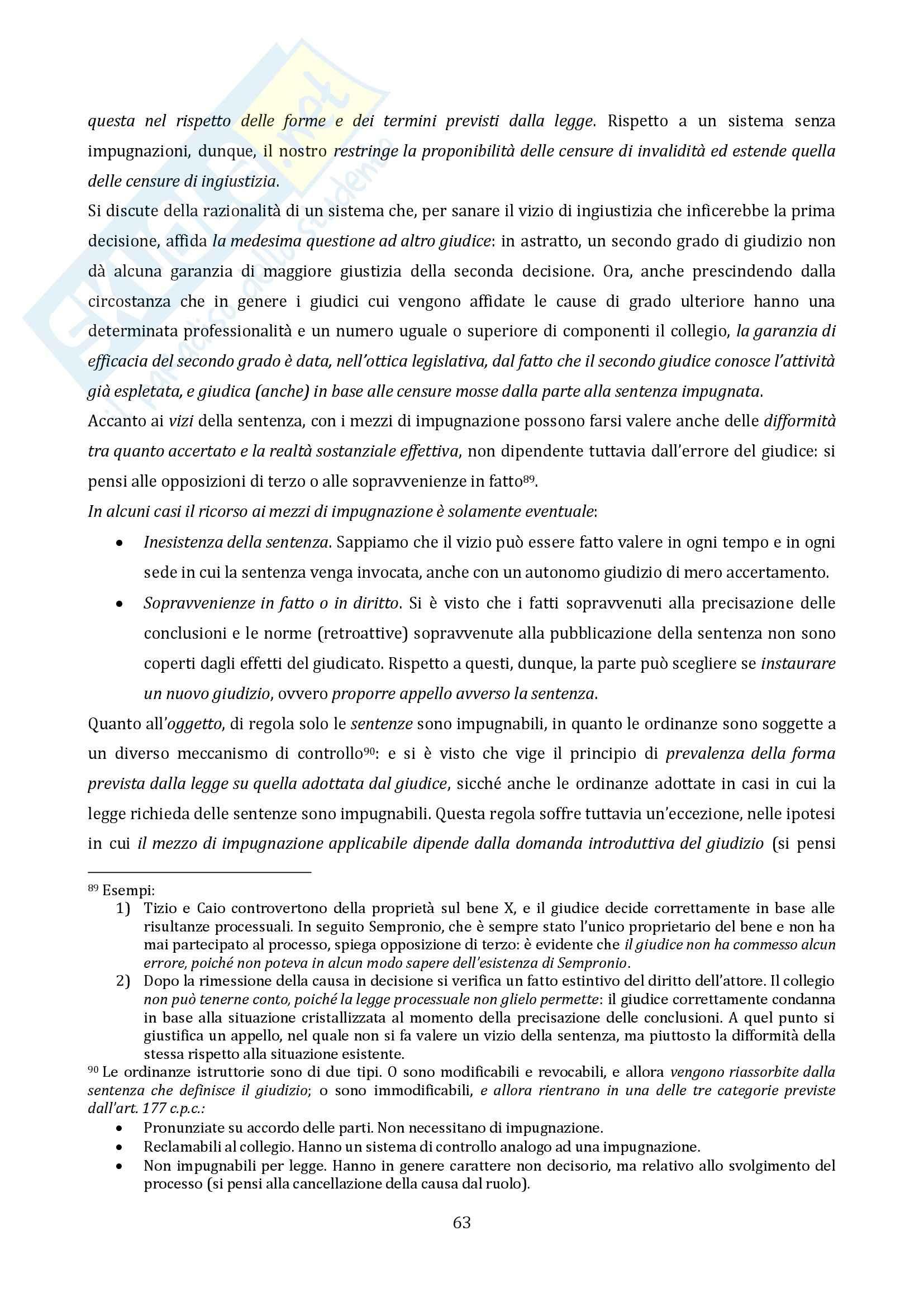 Riassunto esame Diritto Processuale Civile, Il Processo di Cognizione, prof. Vaccarella Pag. 61