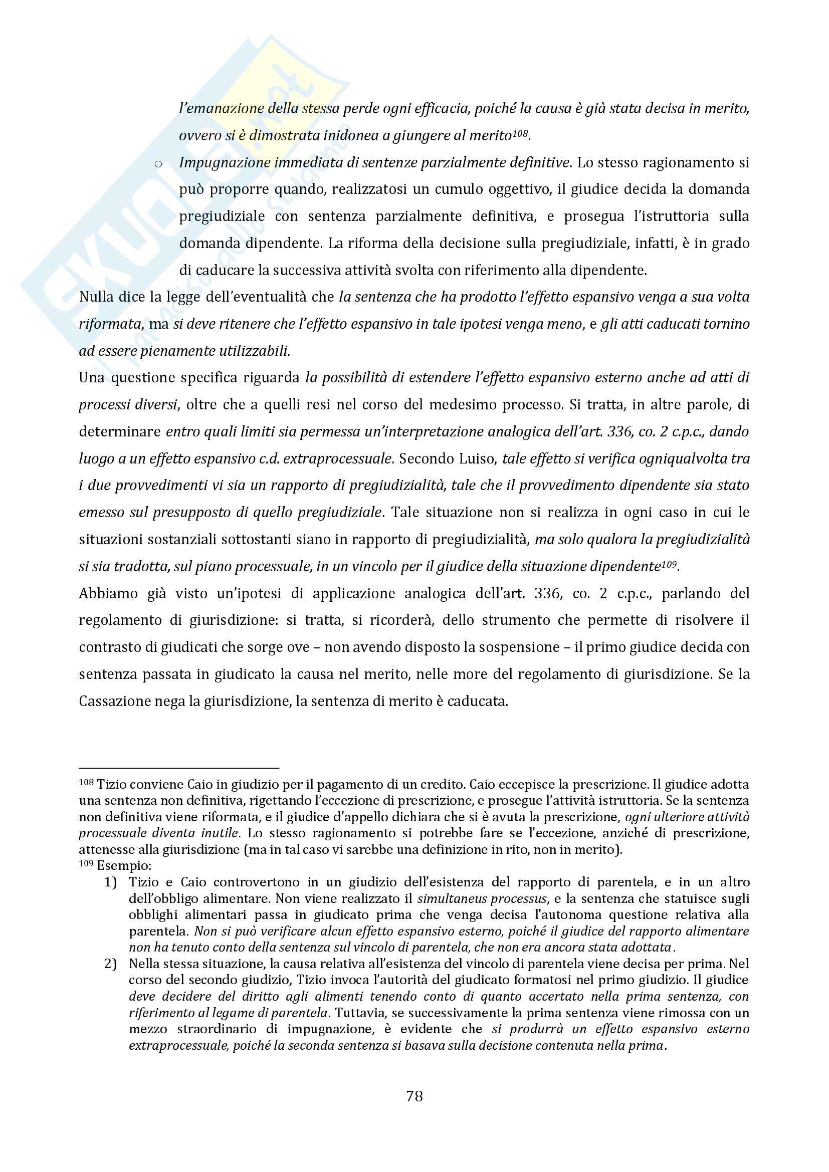 Riassunto esame Diritto Processuale Civile, Il Processo di Cognizione, prof. Vaccarella Pag. 76