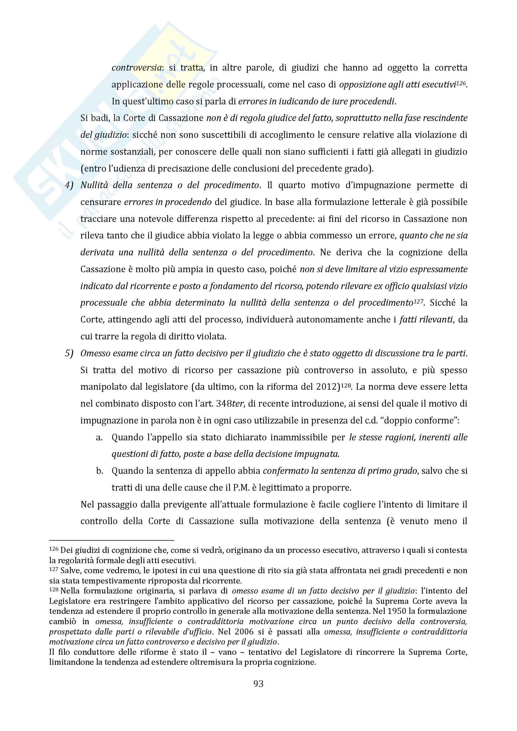 Riassunto esame Diritto Processuale Civile, Il Processo di Cognizione, prof. Vaccarella Pag. 91