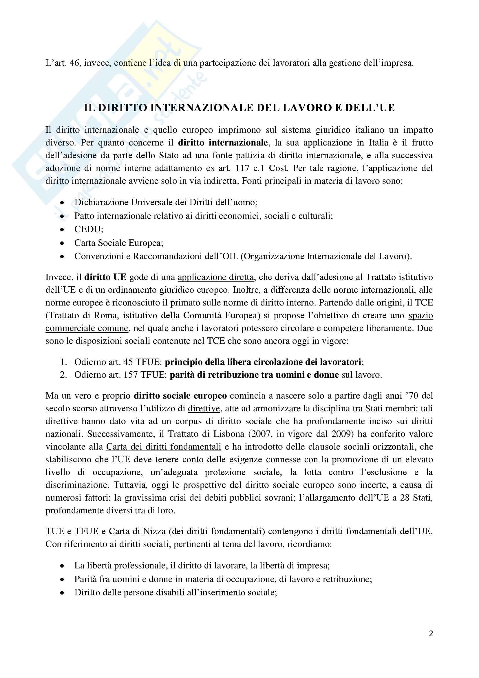 diritto del lavoro Pag. 2