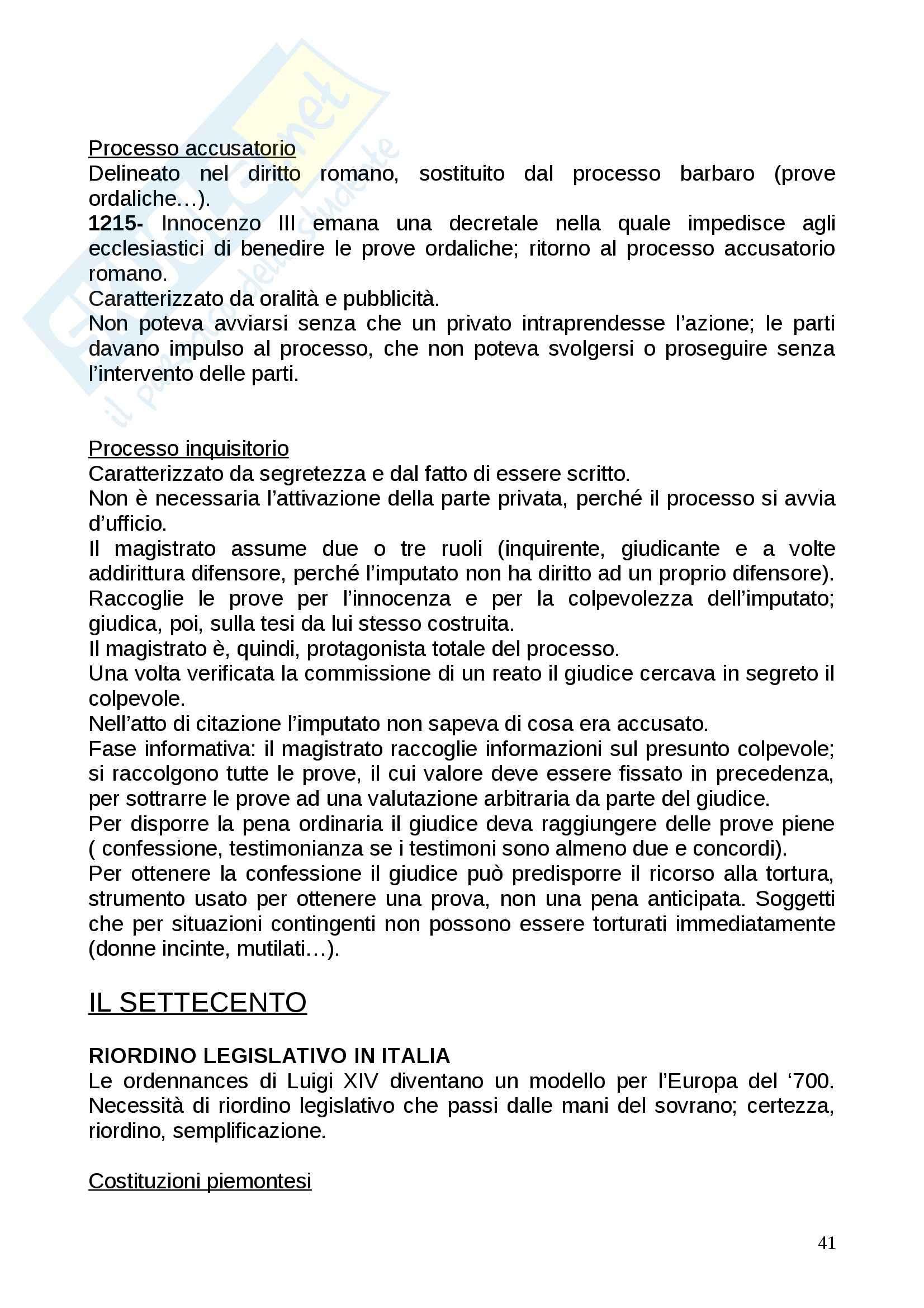 Riassunto esame Storia del diritto, prof. Sciumè, libro consigliato Storia del diritto in Europa, Padoa Schioppa Pag. 41
