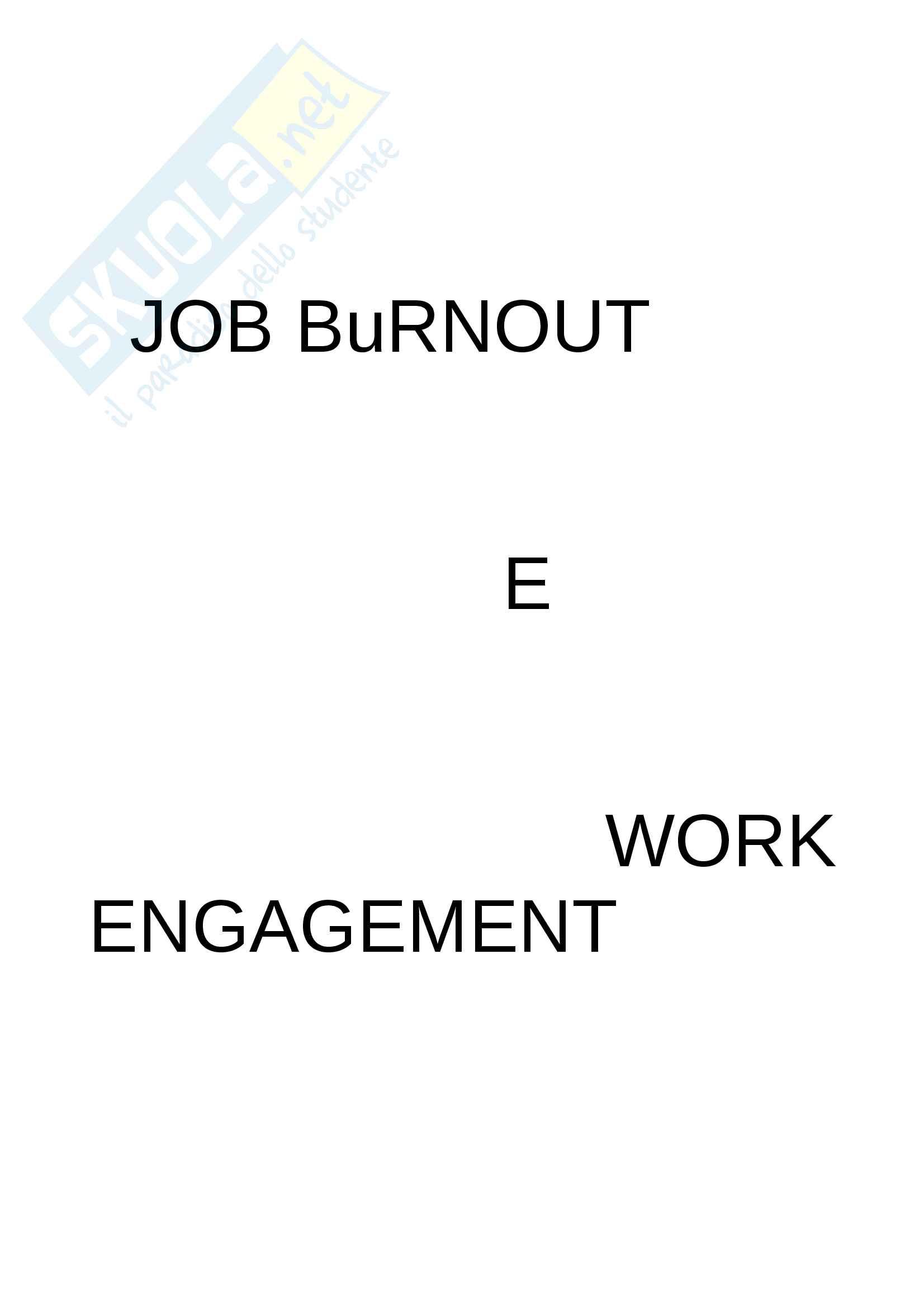 Burnout e work engagement