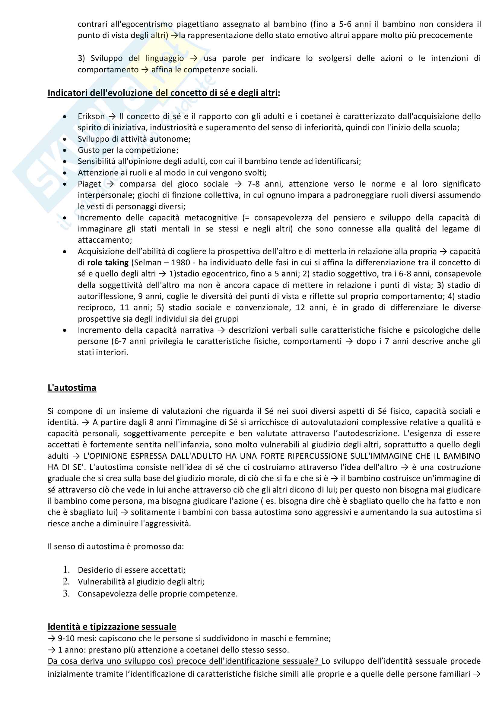 """Riassunto esame Psicologia dello Sviluppo, prof. Farroni, libro consigliato """"Psicologia dello Sviluppo"""", Camaioni Pag. 36"""
