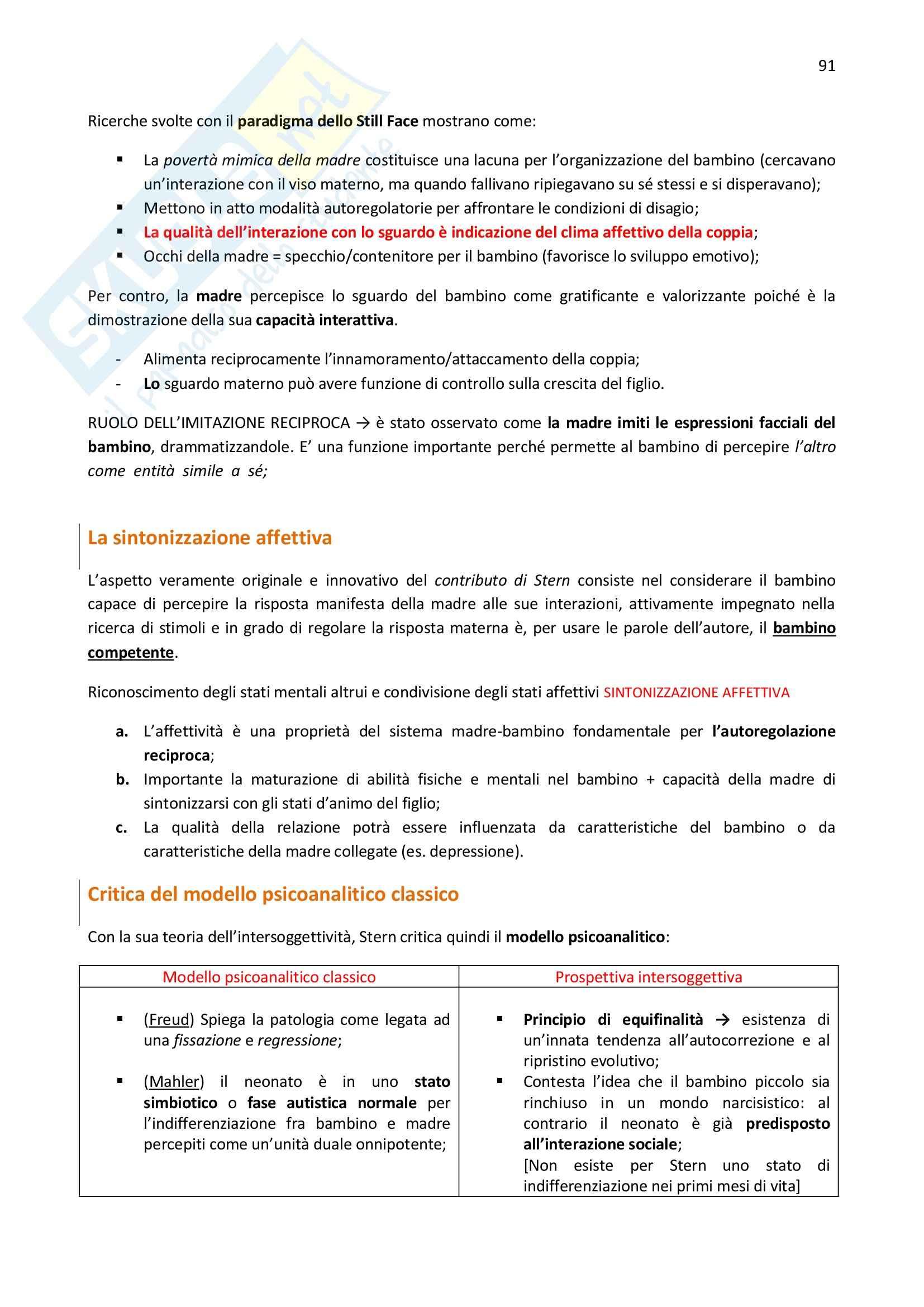 Riassunto esame Psicologia Dinamica, prof. Monti, libro consigliato Psicologia come funzione della mente, Blandino Pag. 91