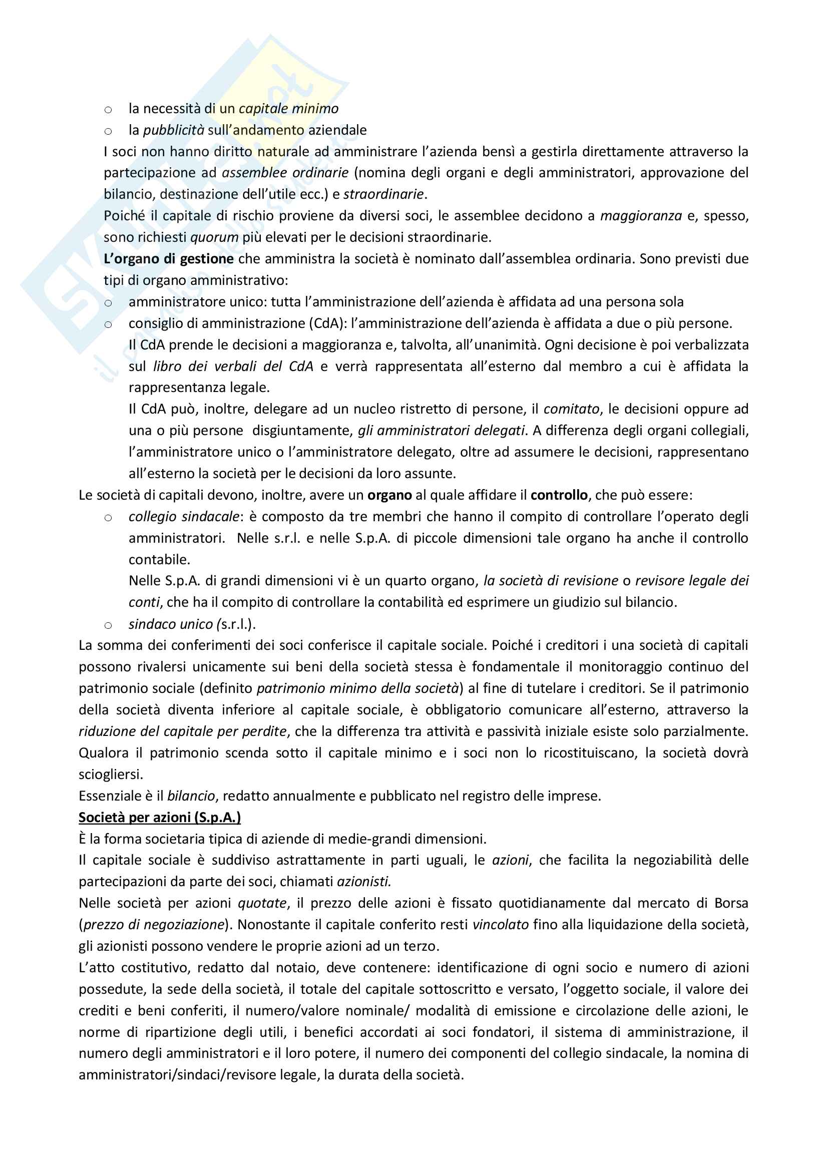 Riassunto Economia Aziendale prof. Cantino, prima parte Pag. 16