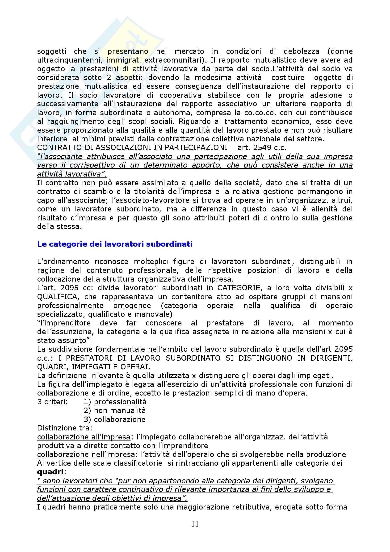 Riassunto esame Diritto del Lavoro, prof. Vettor, libro consigliato Manuale di Diritto del Lavoro, Roccella Pag. 11