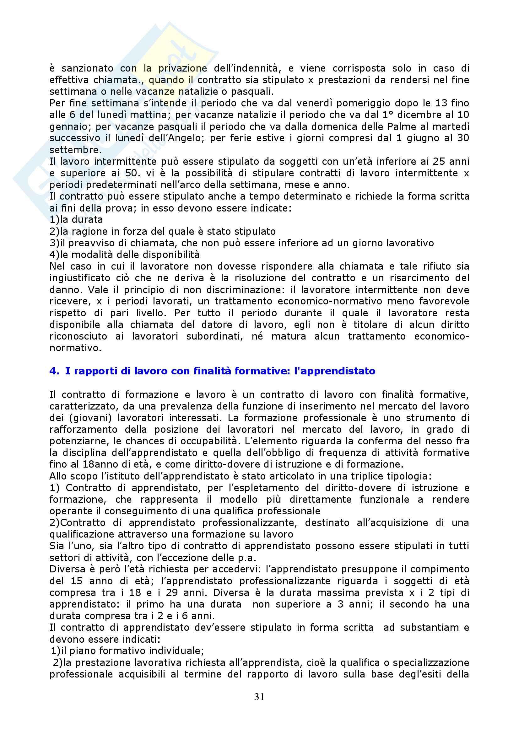 Riassunto esame Diritto del Lavoro, prof. Vettor, libro consigliato Manuale di Diritto del Lavoro, Roccella Pag. 31
