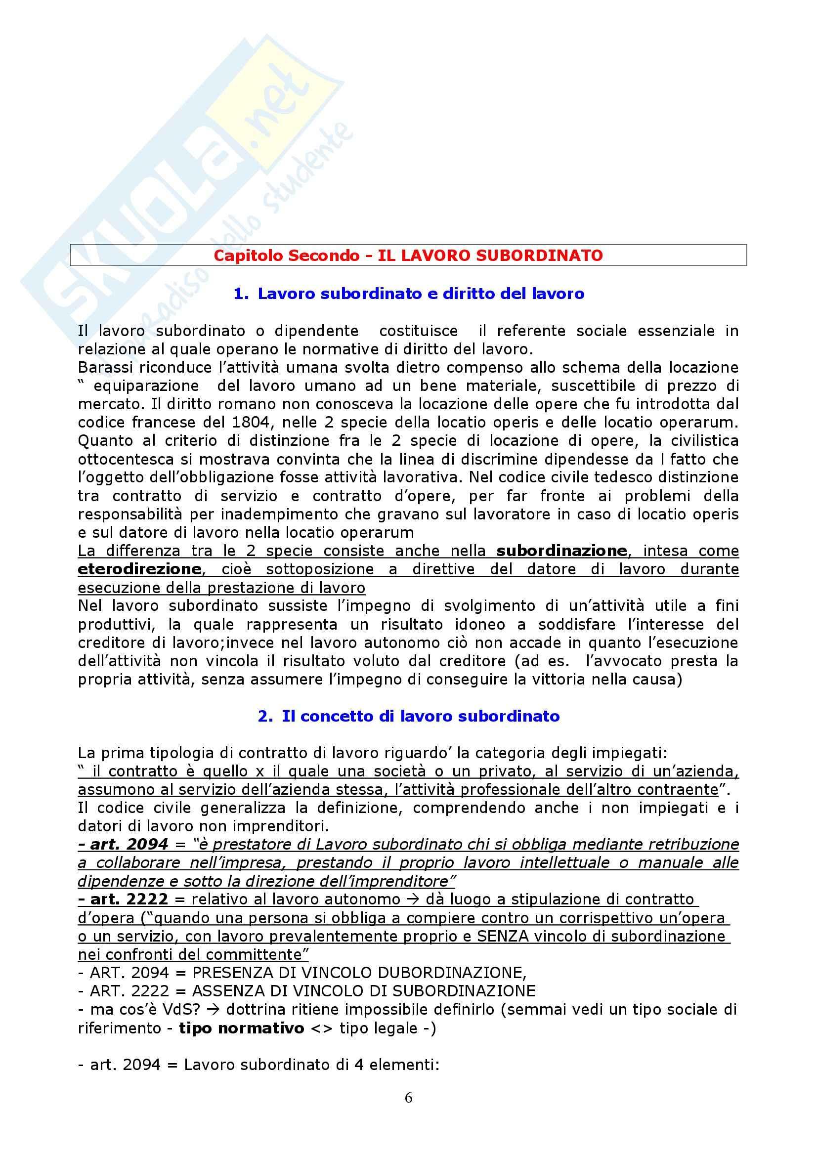 Riassunto esame Diritto del Lavoro, prof. Vettor, libro consigliato Manuale di Diritto del Lavoro, Roccella Pag. 6