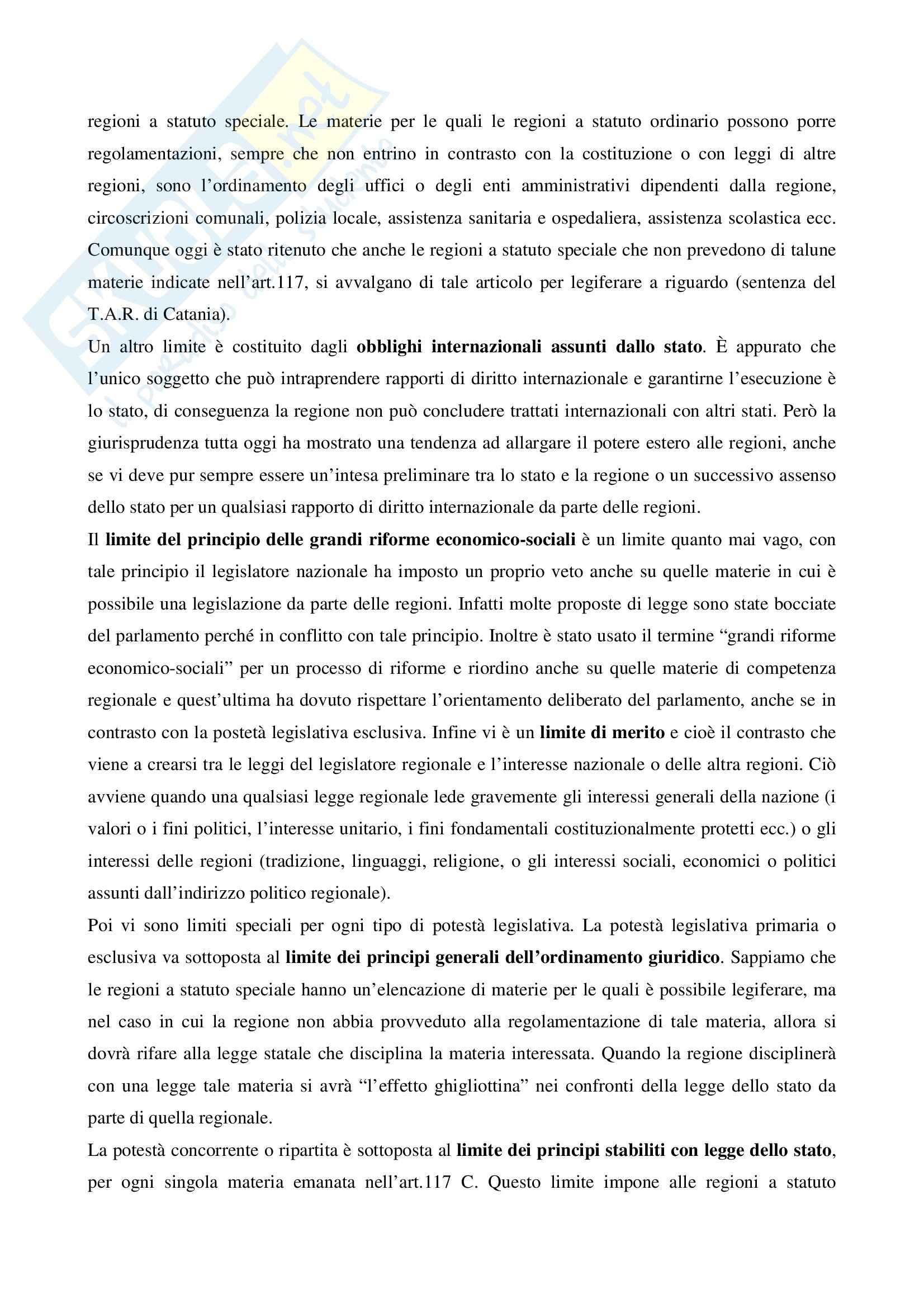 Riassunto esame Istituzioni Diritto Pubblico, prof. Lauricella, libro consigliato Istituzioni di Diritto Pubblico, Martines Pag. 21