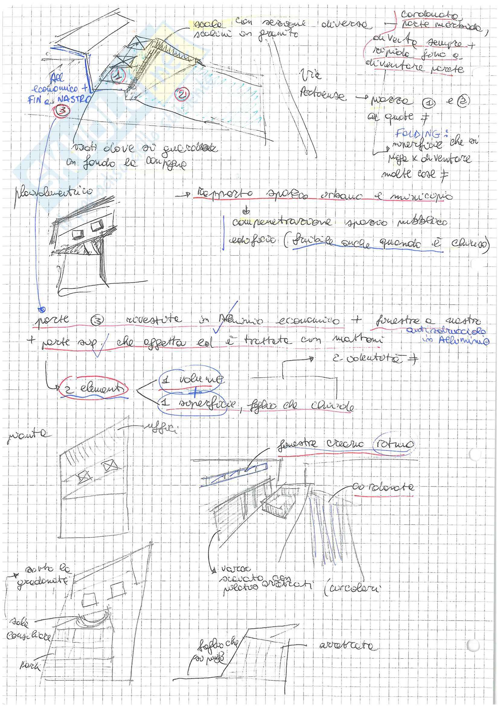 (2/2) Appunti presi a lezione di Architettura e Composizione Architettonica 2 con laboratorio progettuale, Docente: Maria Argenti Pag. 26