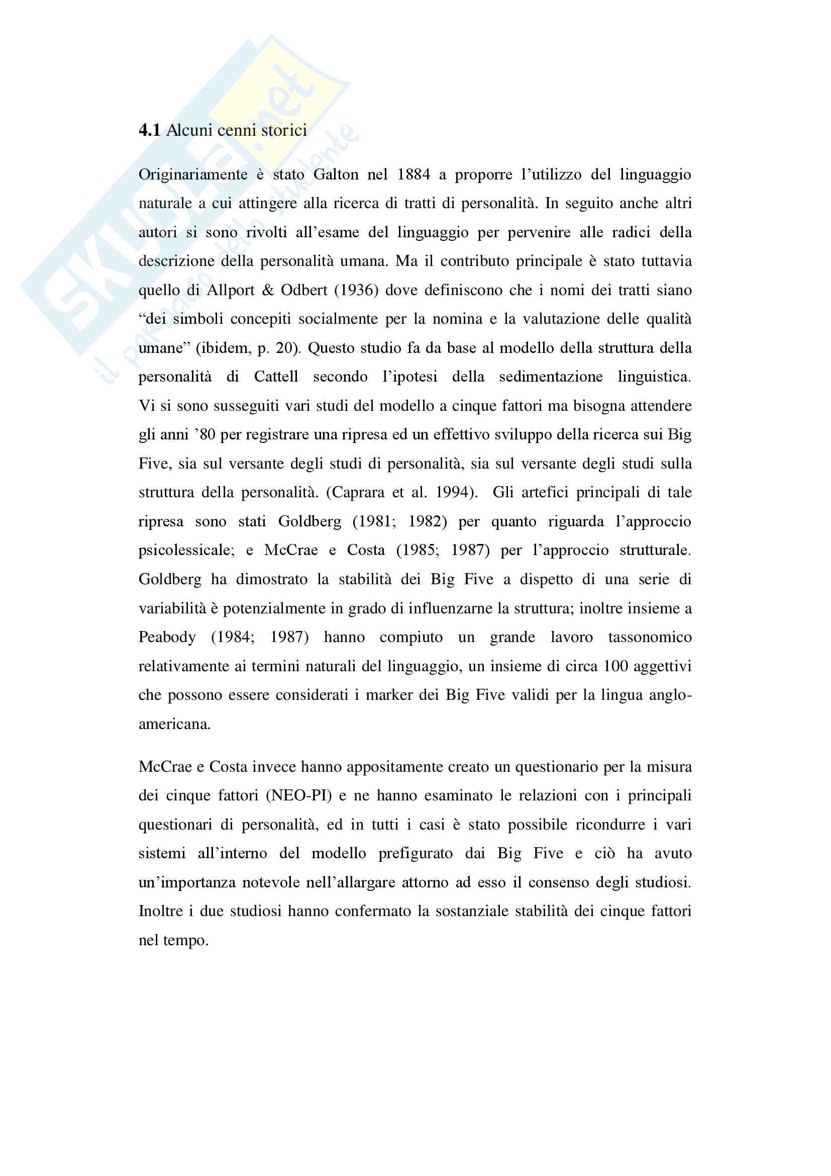 Tratti di personalità e successo scolastico: il ruolo della coscienziosità Pag. 11