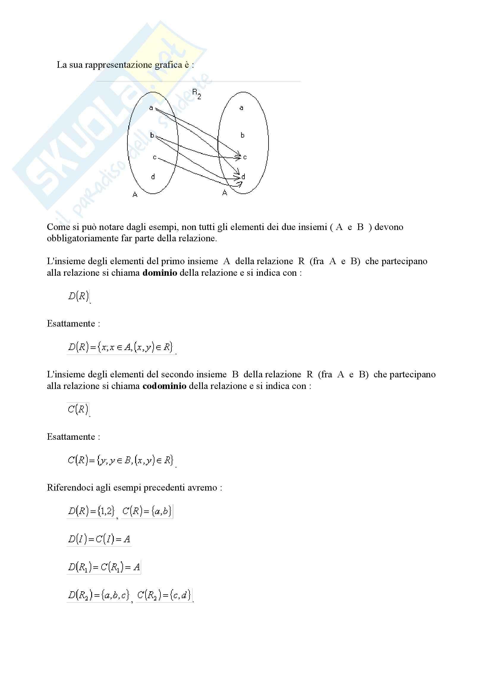 Matematica per le applicazioni I - insiemi Pag. 11