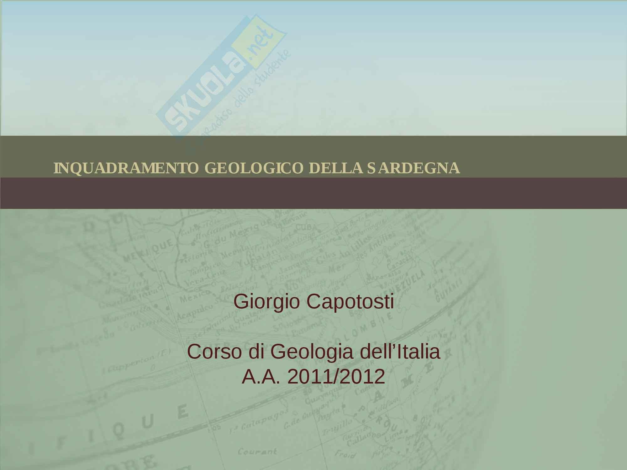 Inquadramento geologico della Sardegna, Geologia