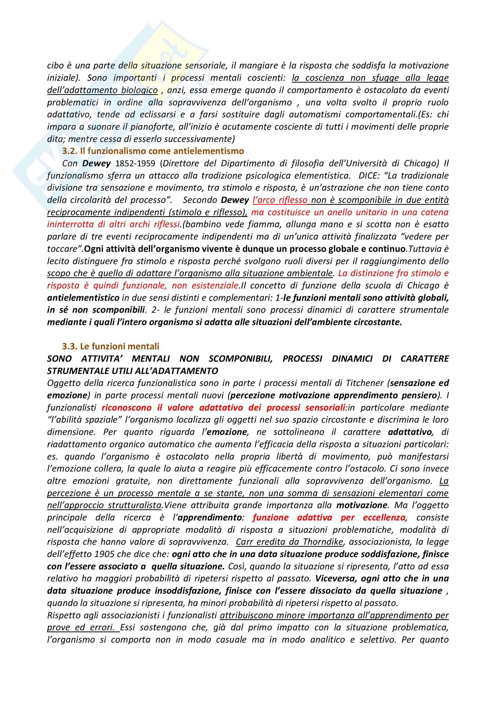 Riassunto esame Psicologia Generale, prof. Dazzi, libro consigliato Storia della Psicologia, Legrenzi Pag. 11