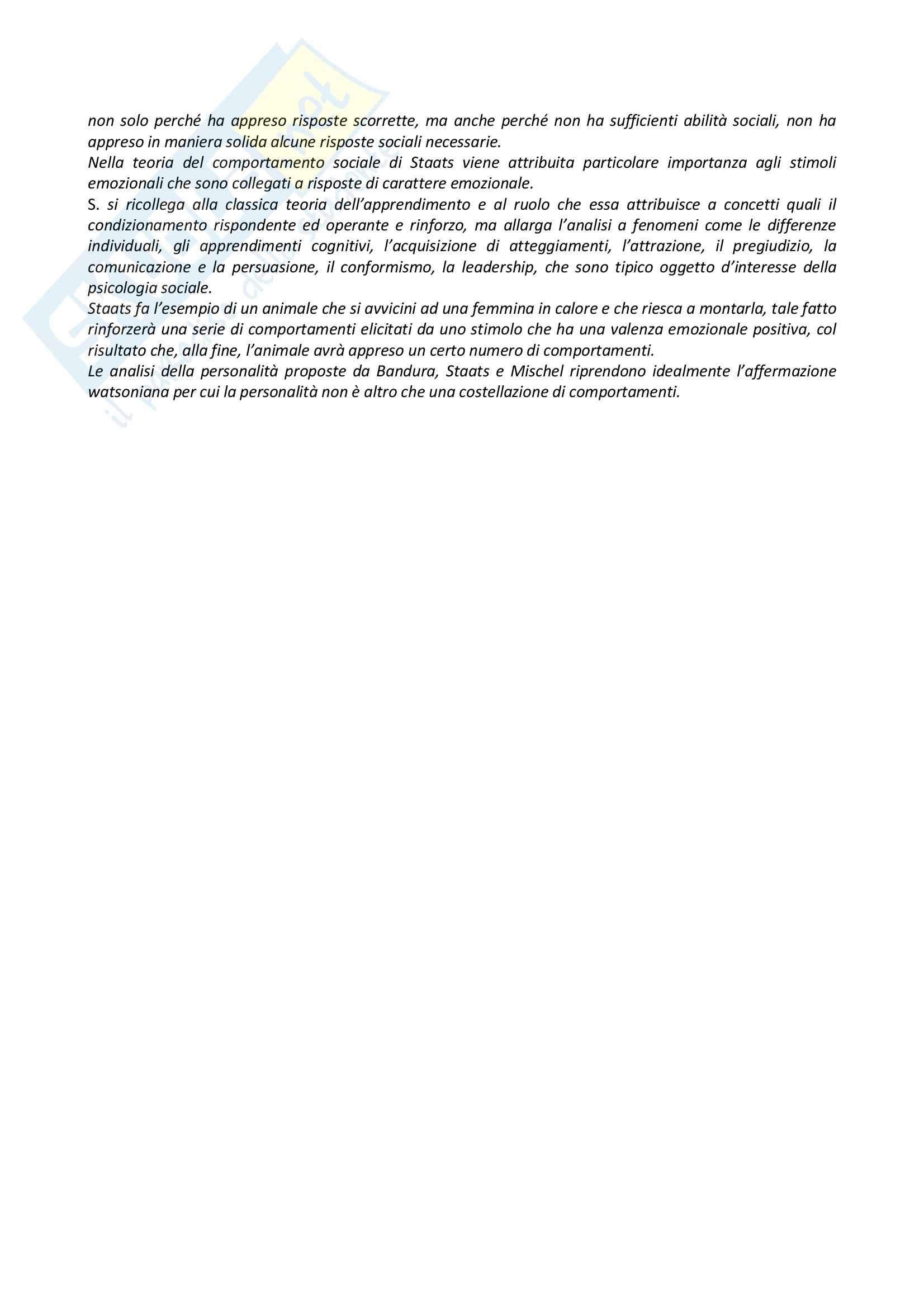 Riassunto esame Psicologia Generale, prof. Dazzi, libro consigliato Storia della Psicologia, Legrenzi Pag. 26