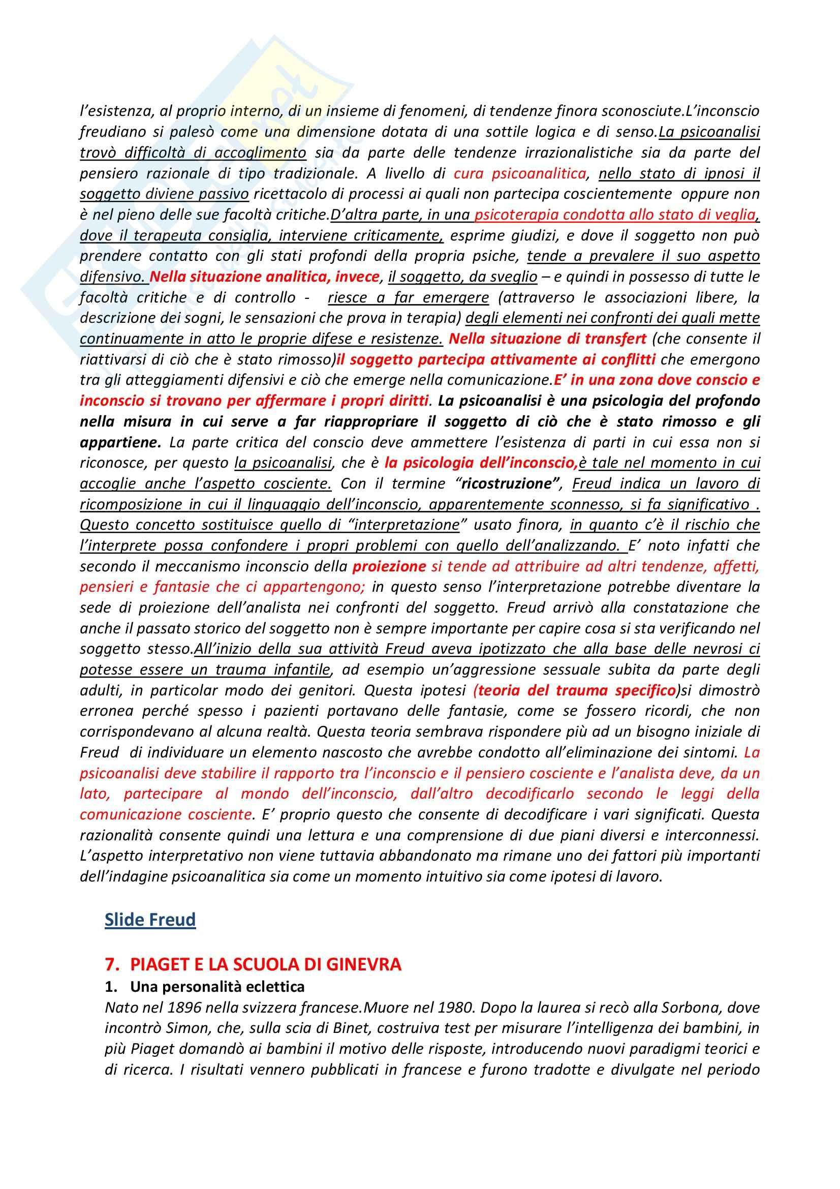 Riassunto esame Psicologia Generale, prof. Dazzi, libro consigliato Storia della Psicologia, Legrenzi Pag. 31