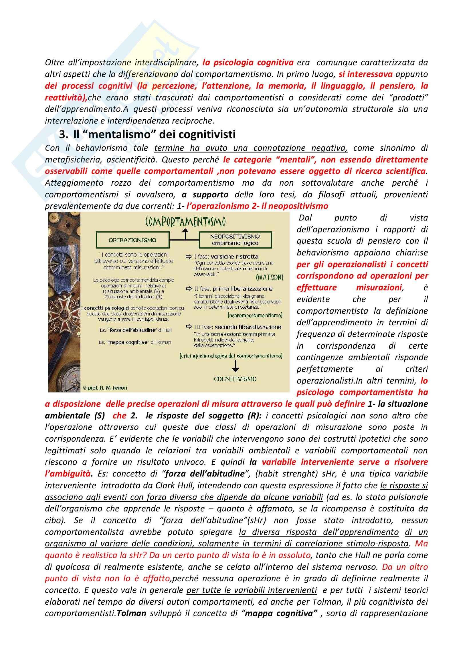Riassunto esame Psicologia Generale, prof. Dazzi, libro consigliato Storia della Psicologia, Legrenzi Pag. 36