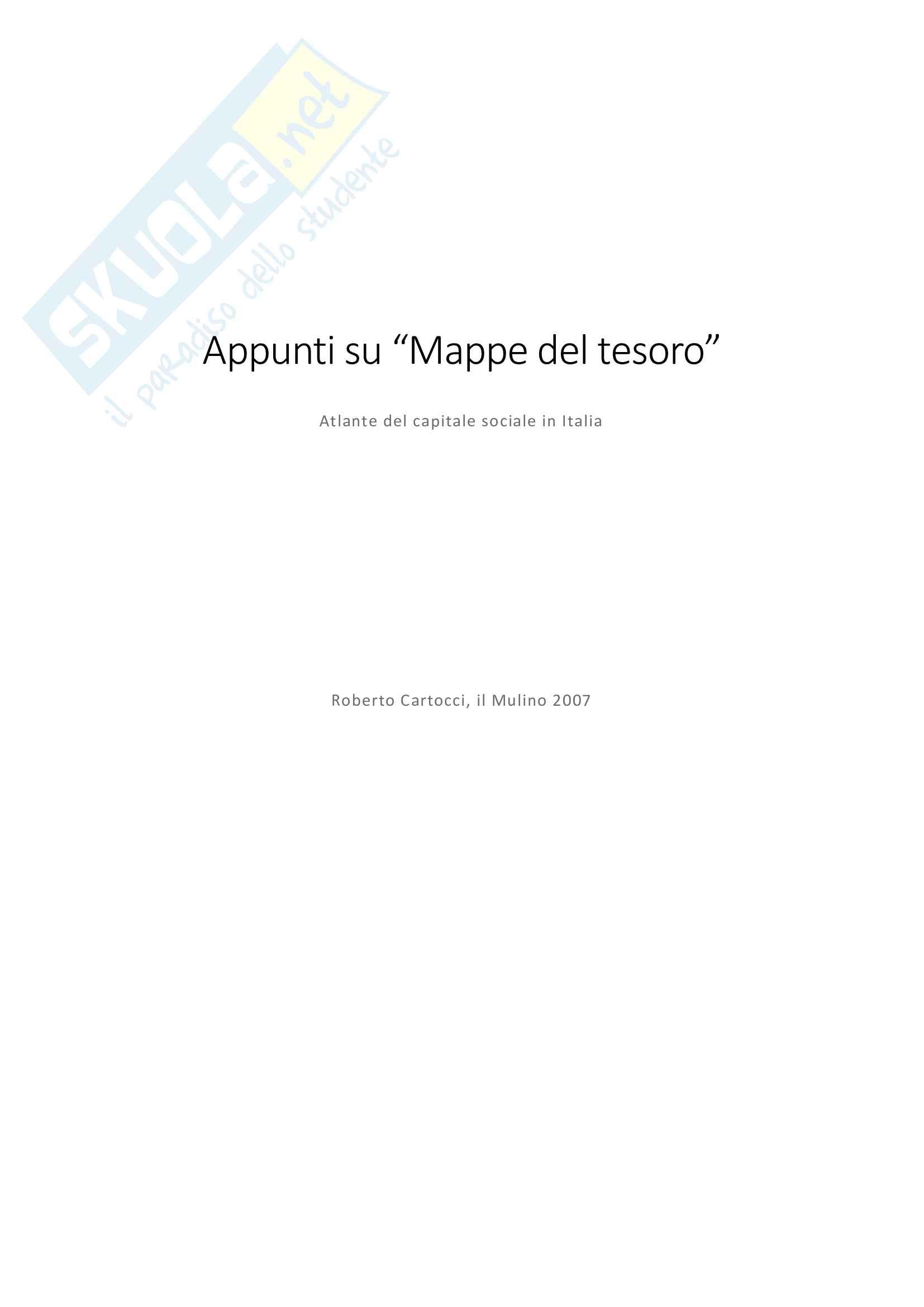 Riassunto esame metodologia scienze sociali, prof. Cellini, libro consigliato Mappe del tesoro, Cartocci