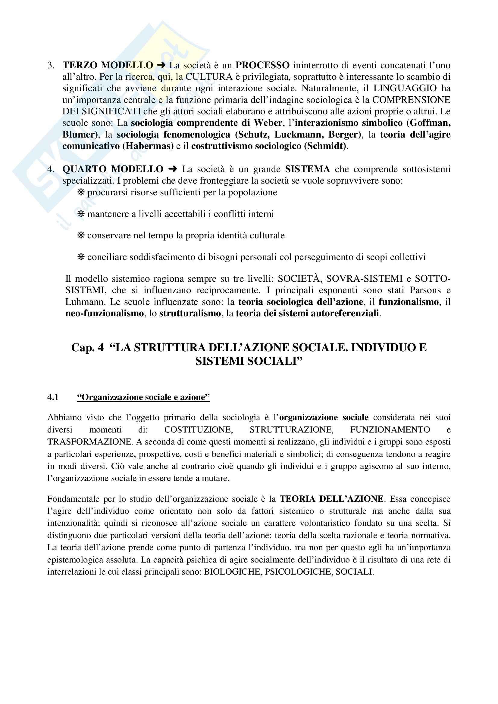 Riassunto esame Sociologia generale, prof. Moro, libro consigliato Manuale di sociologia, Gallino Pag. 2