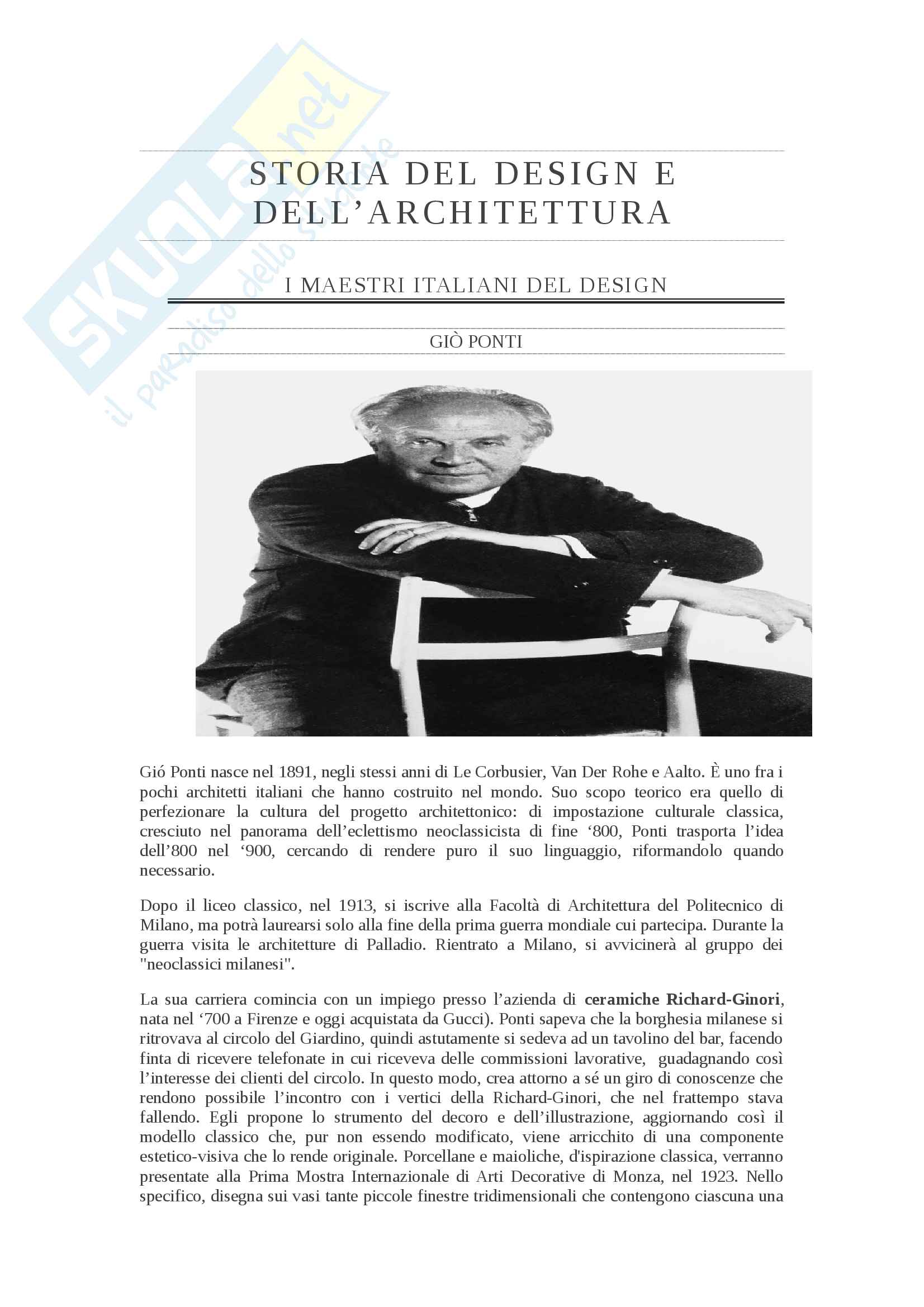 Appunti sui Maestri Italiani del Design (Mendini, Sottsass, Ponti, Mari, Munari, Castiglioni)