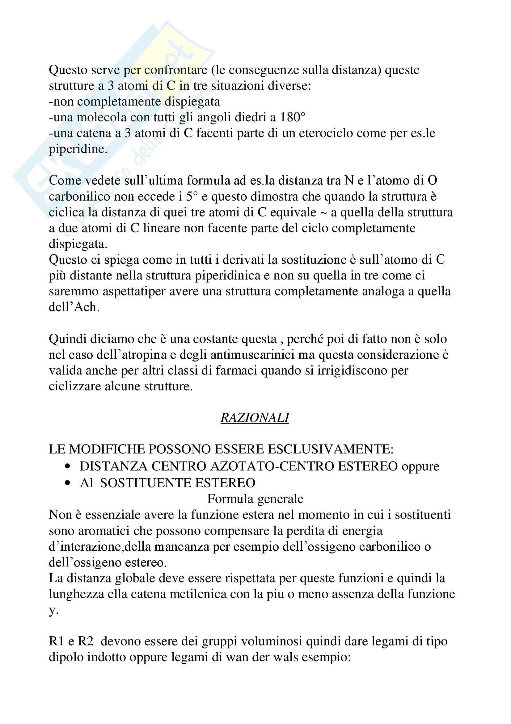 Chimica farmaceutica - antagonisti muscarinici Pag. 6