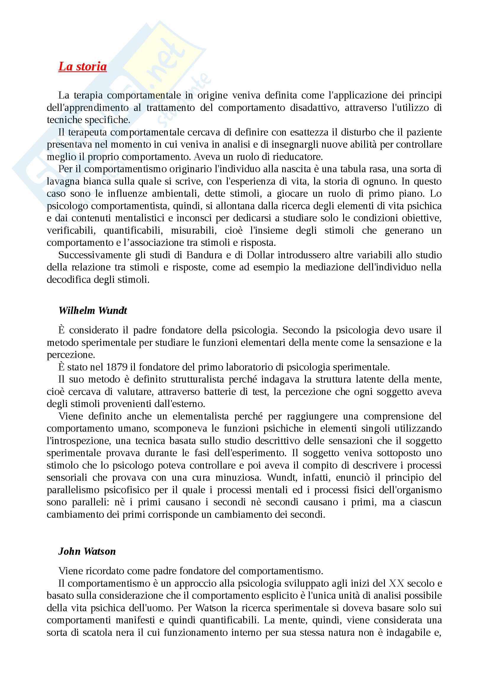 """Riassunto esame psicologia generale, prof Renzi, testo consigliato Il comportamentismo. Alla scoperta della natura delle azioni dell'uomo"""" di E. Balconi"""