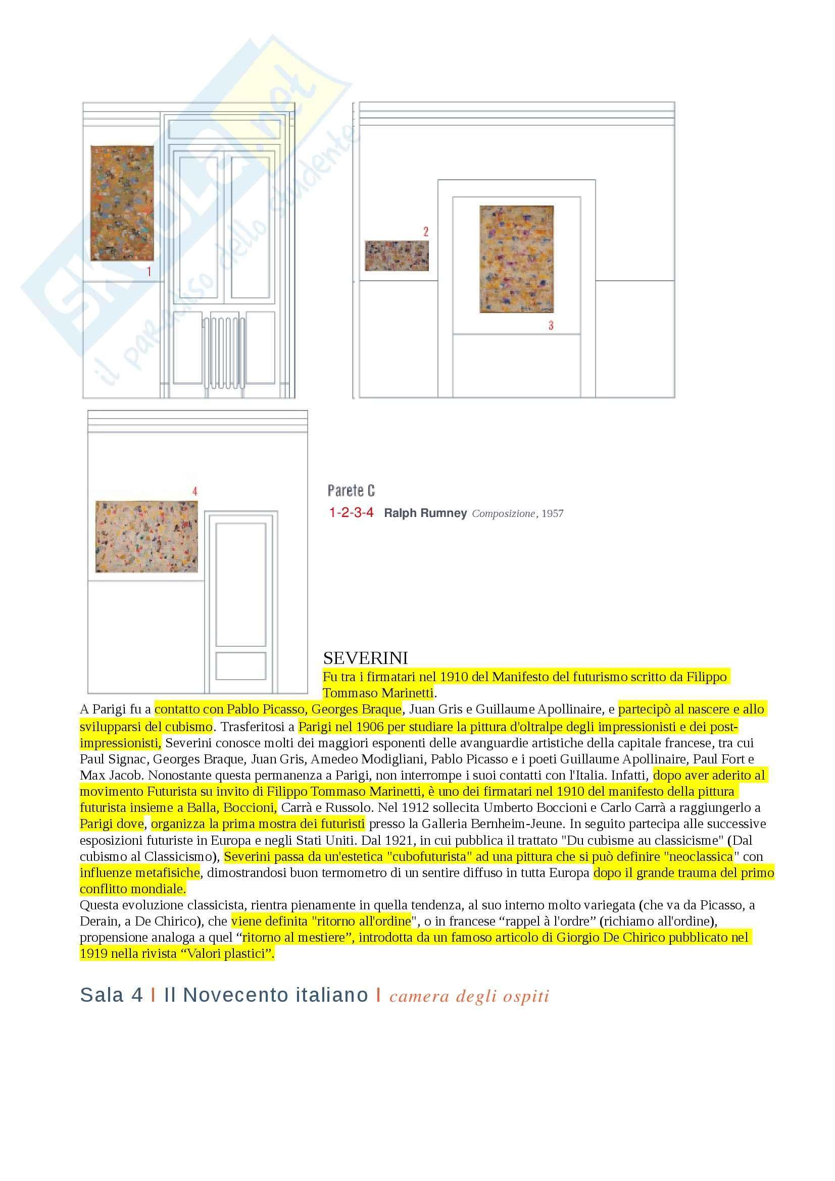 Fondazione Boschi Di Stefano, Storia dell'arte contemporanea Pag. 6