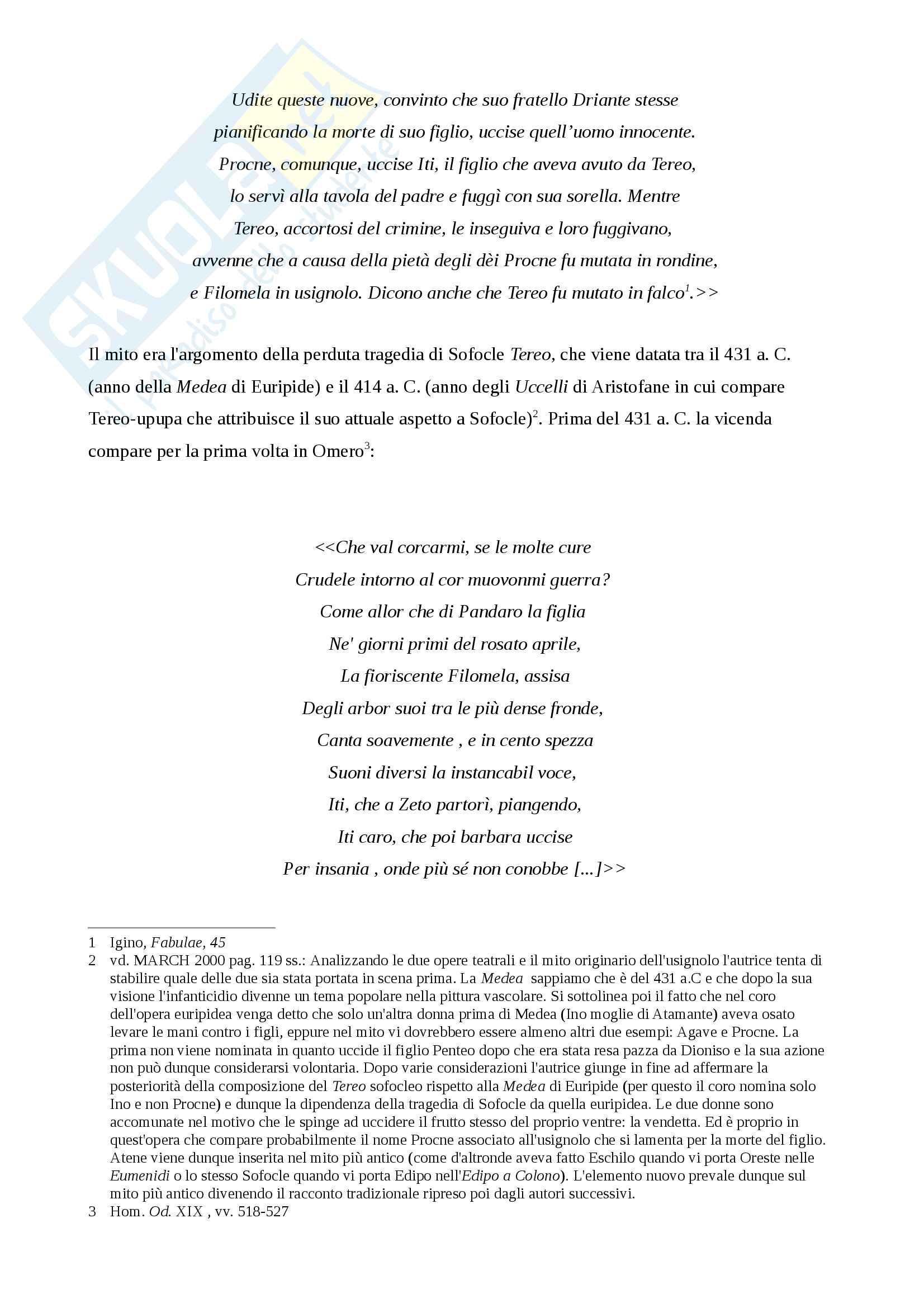 Procne e Itys sull'Acropoli di Atene Pag. 6