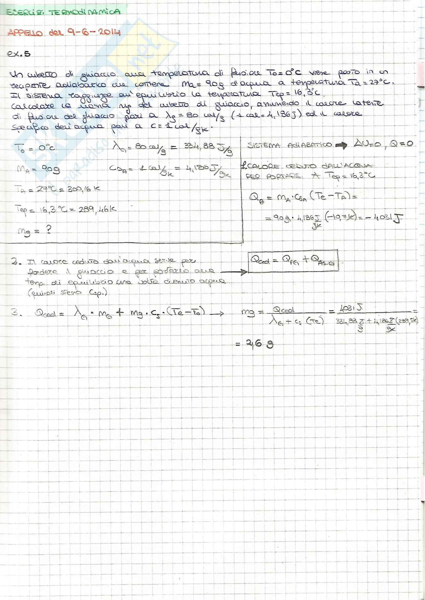 Fisica I - Esercizi