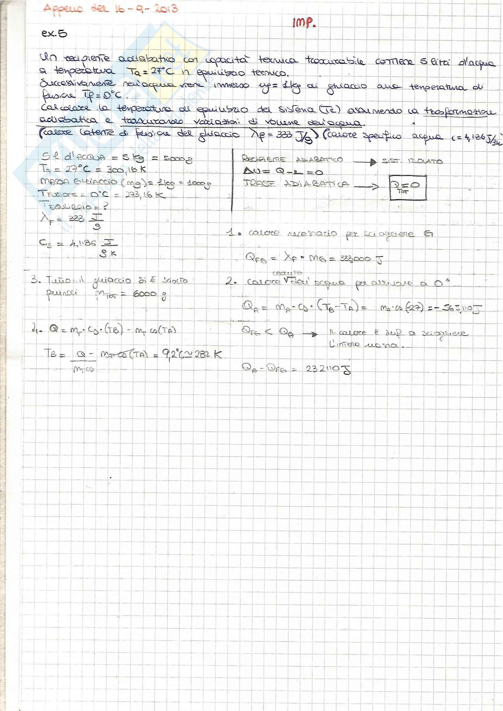 Fisica I - Esercizi Pag. 2