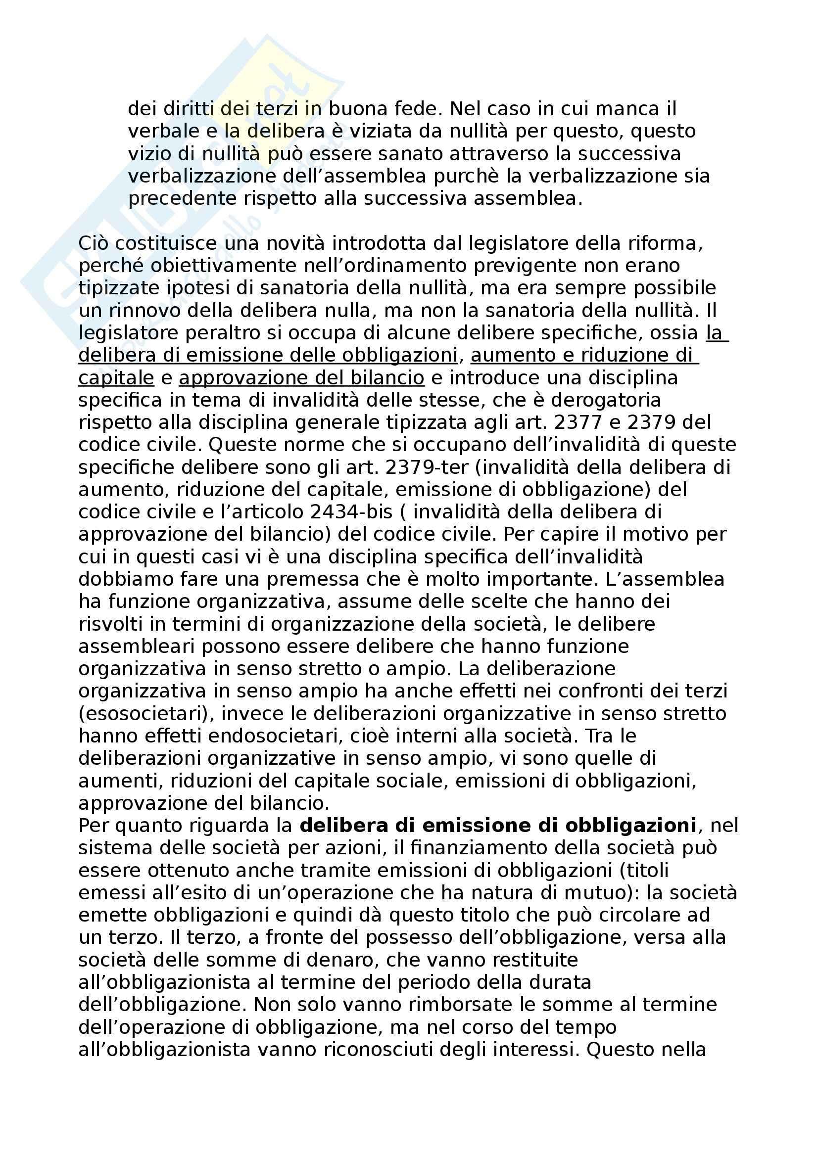 Diritto commerciale - Nullità e annullabilità delle deliberazioni e dei contratti di società Pag. 21