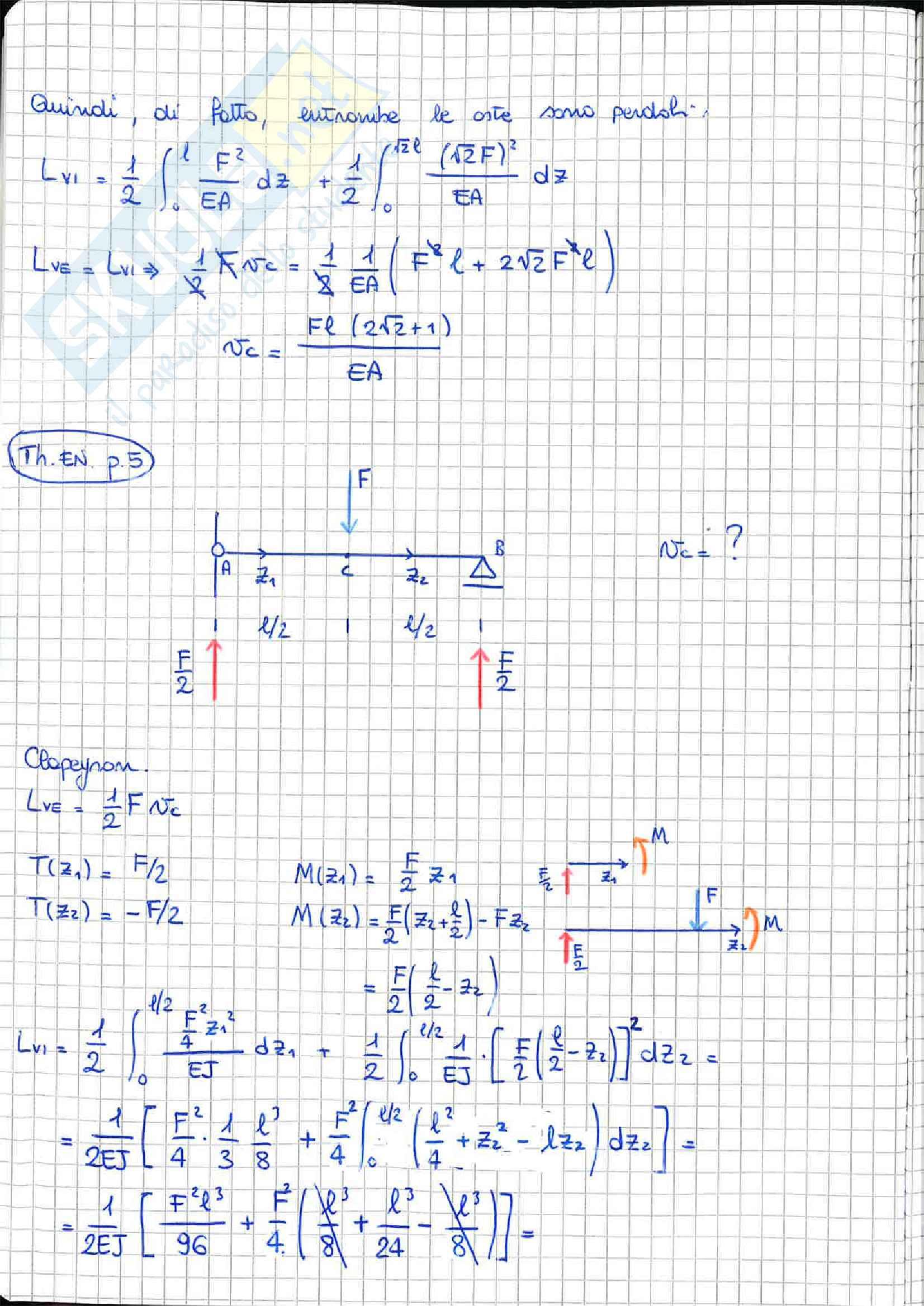 Scienza delle Costruzioni - esercizi Pag. 2