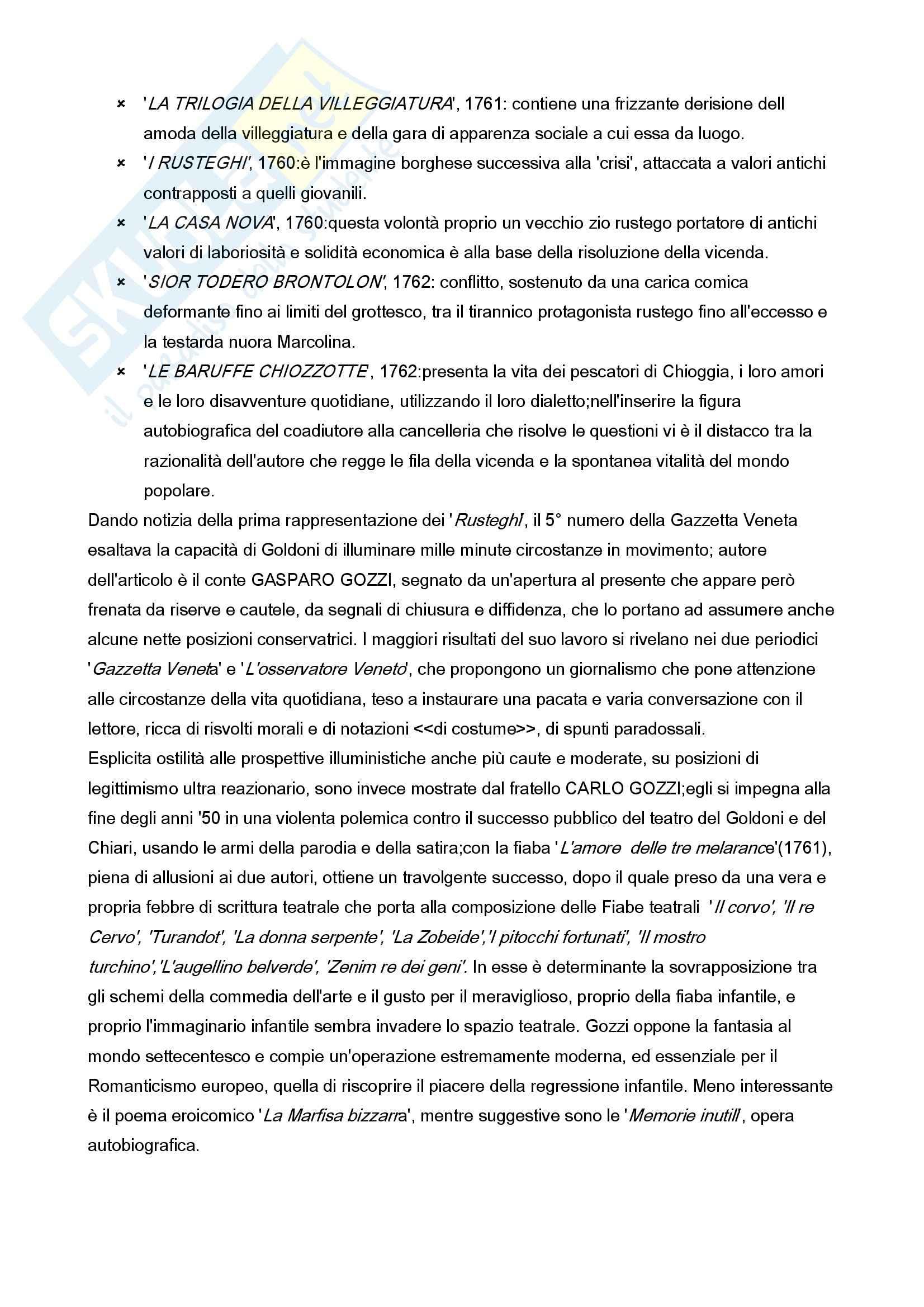 Letteratura italiana - l'età della ragione e delle riforme Pag. 16