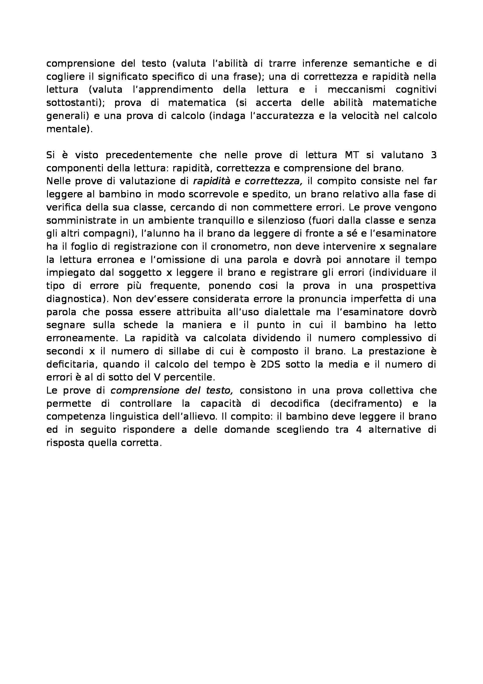 Valutazione dei disturbi dell'apprendimento e della memoria - test di memoria e di intelligenza Pag. 16