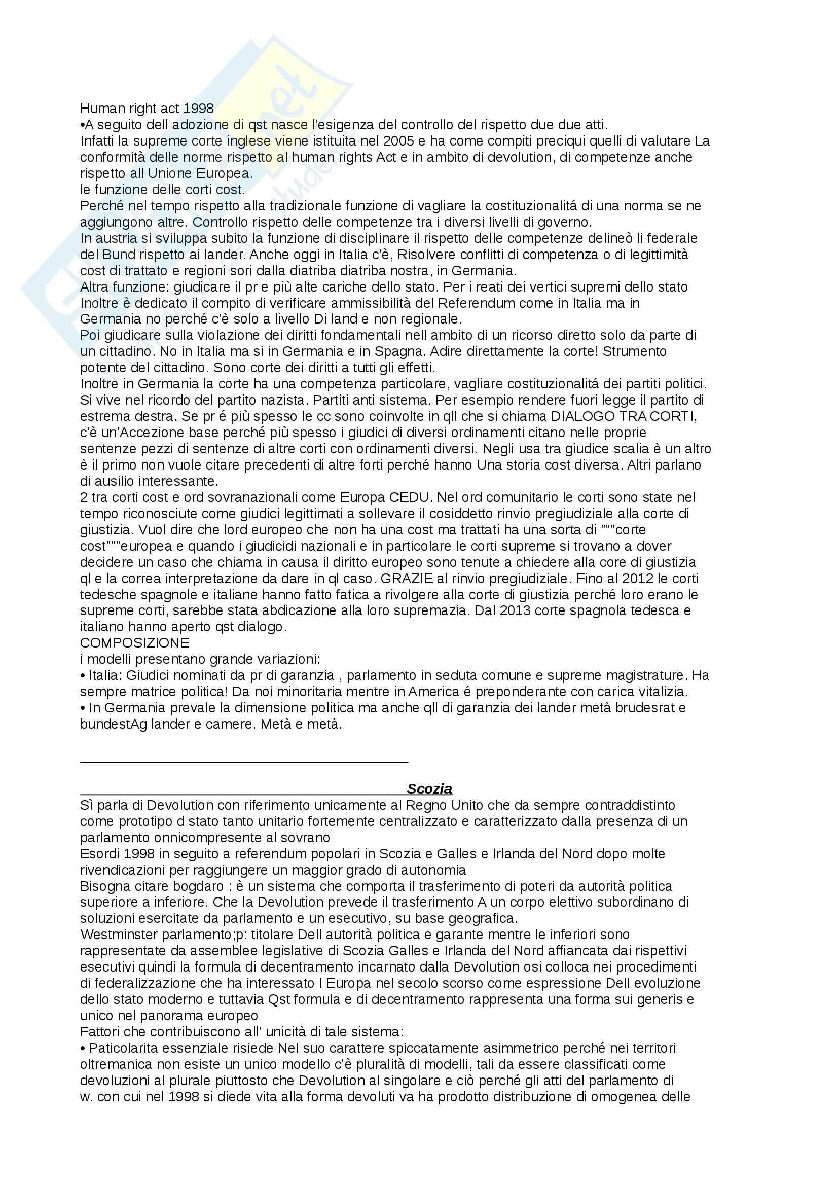 Appunti di Diritto pubblico comparato Pag. 6