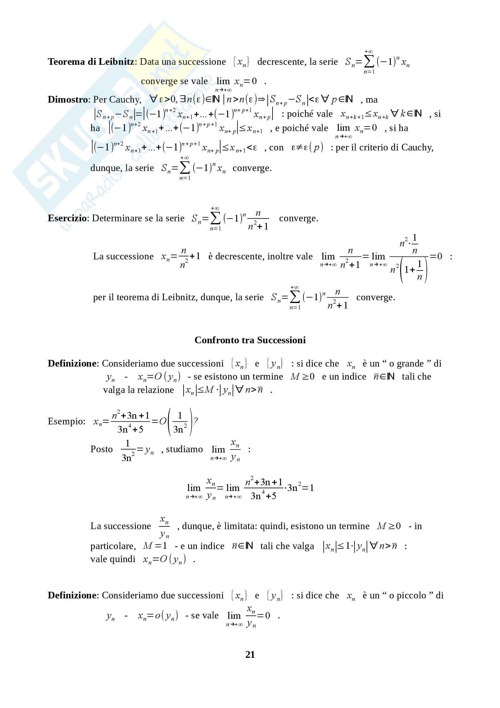 Fondamenti di Analisi 1 per l'Ingegneria - Appunti Pag. 21