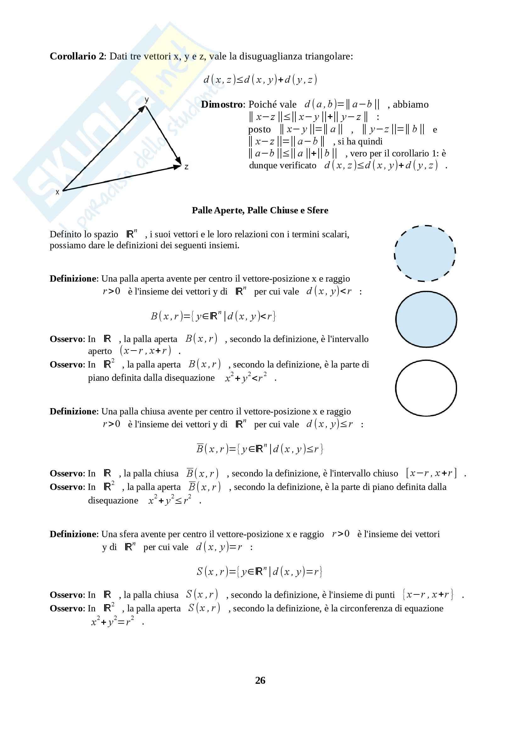 Fondamenti di Analisi 1 per l'Ingegneria - Appunti Pag. 26
